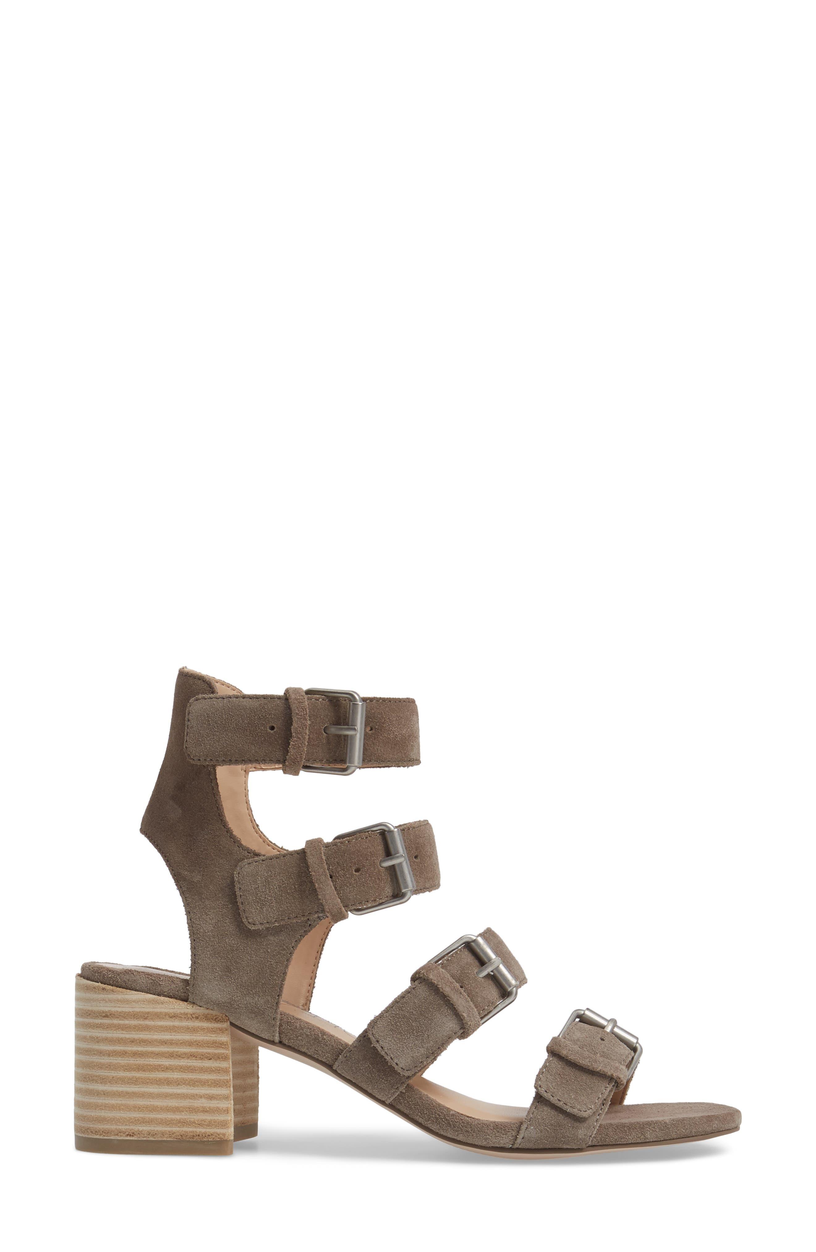 Culver Block Heel Sandal,                             Alternate thumbnail 3, color,                             MUSHROOM SUEDE