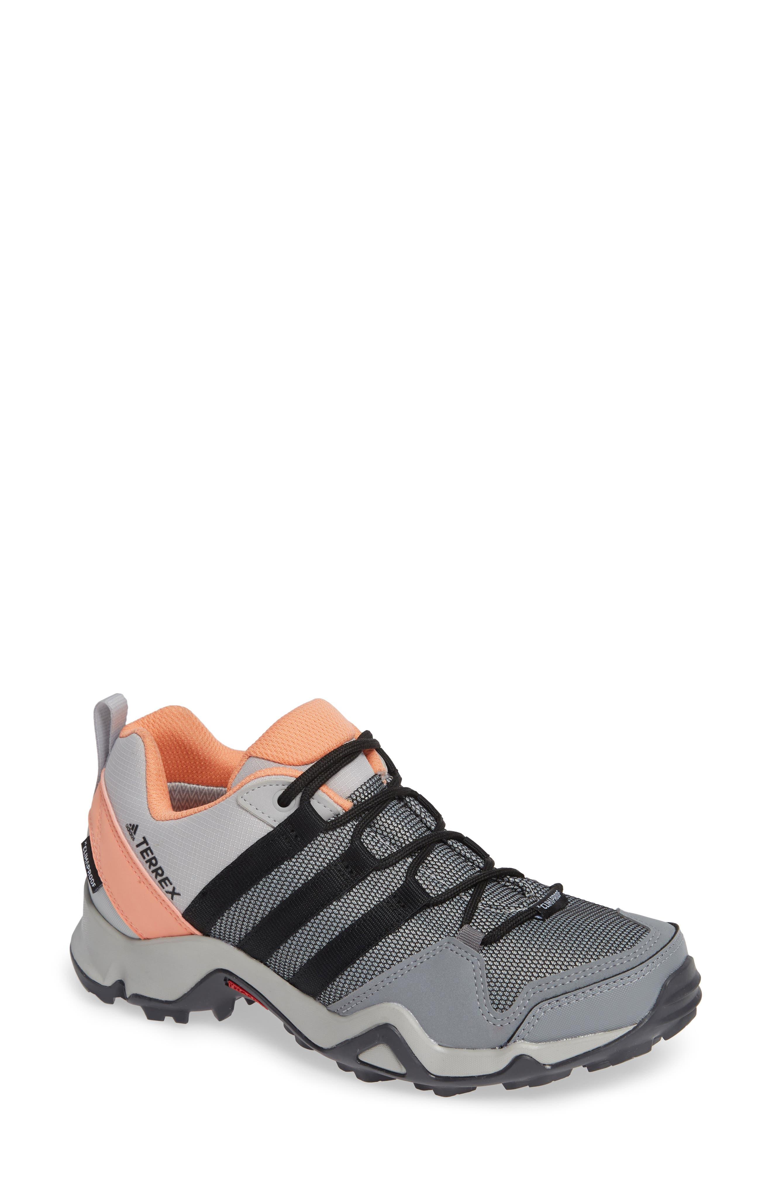 Terrex AX2 CLIMAPROOF<sup>®</sup> Hiking Shoe,                         Main,                         color, GREY/ BLACK/ CHALK CORAL
