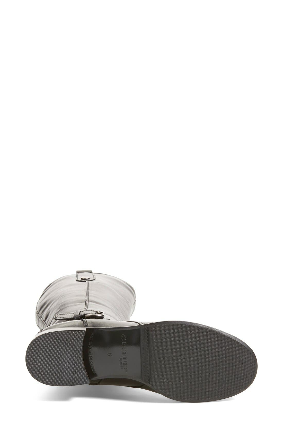 'Stefanie' Waterproof Boot,                             Alternate thumbnail 10, color,                             BLACK LEATHER