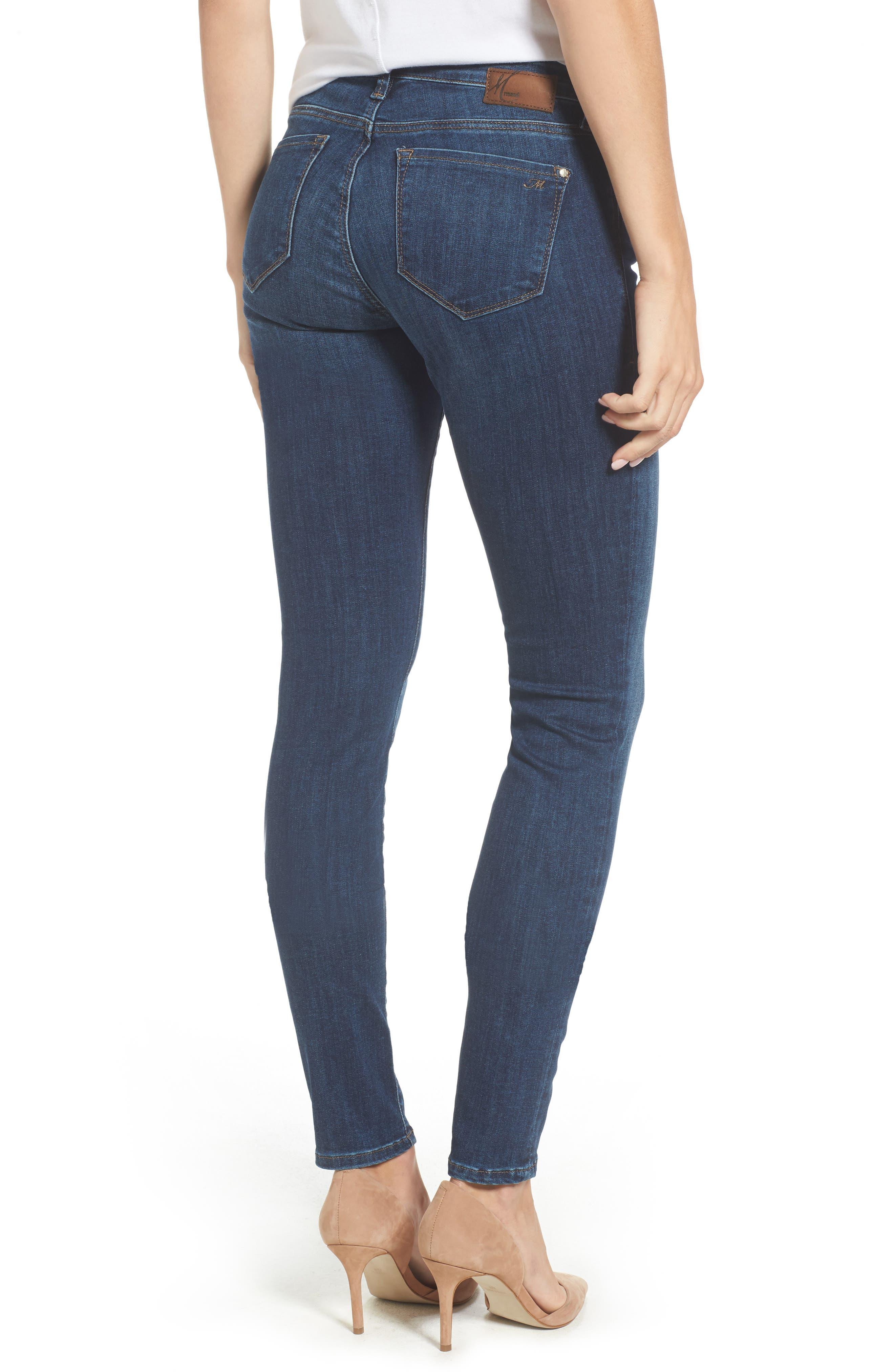 Adriana Stretch Skinny Jeans,                             Alternate thumbnail 2, color,                             401