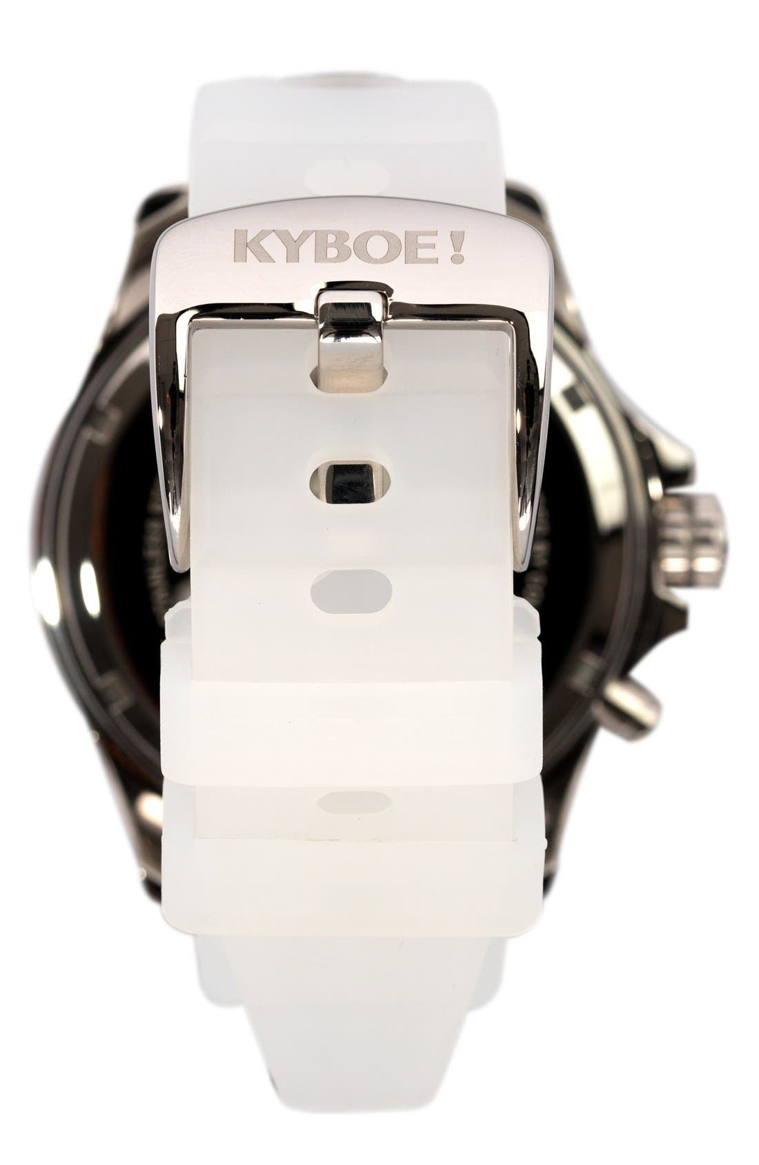 KYBOE!,                             Silicone Strap Watch, 48mm,                             Alternate thumbnail 2, color,                             100