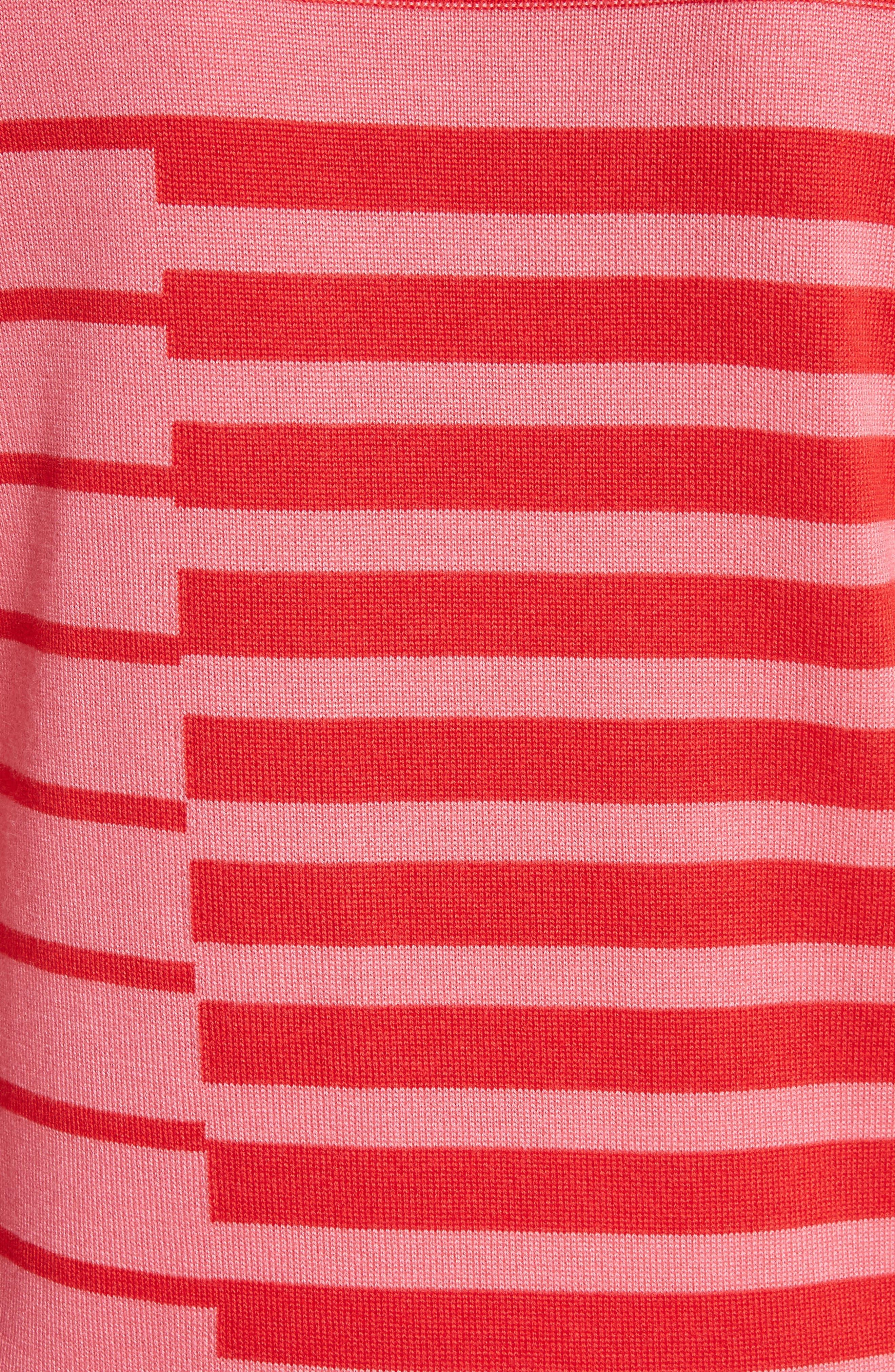 Intarsia Stripe Sweater,                             Alternate thumbnail 5, color,                             660