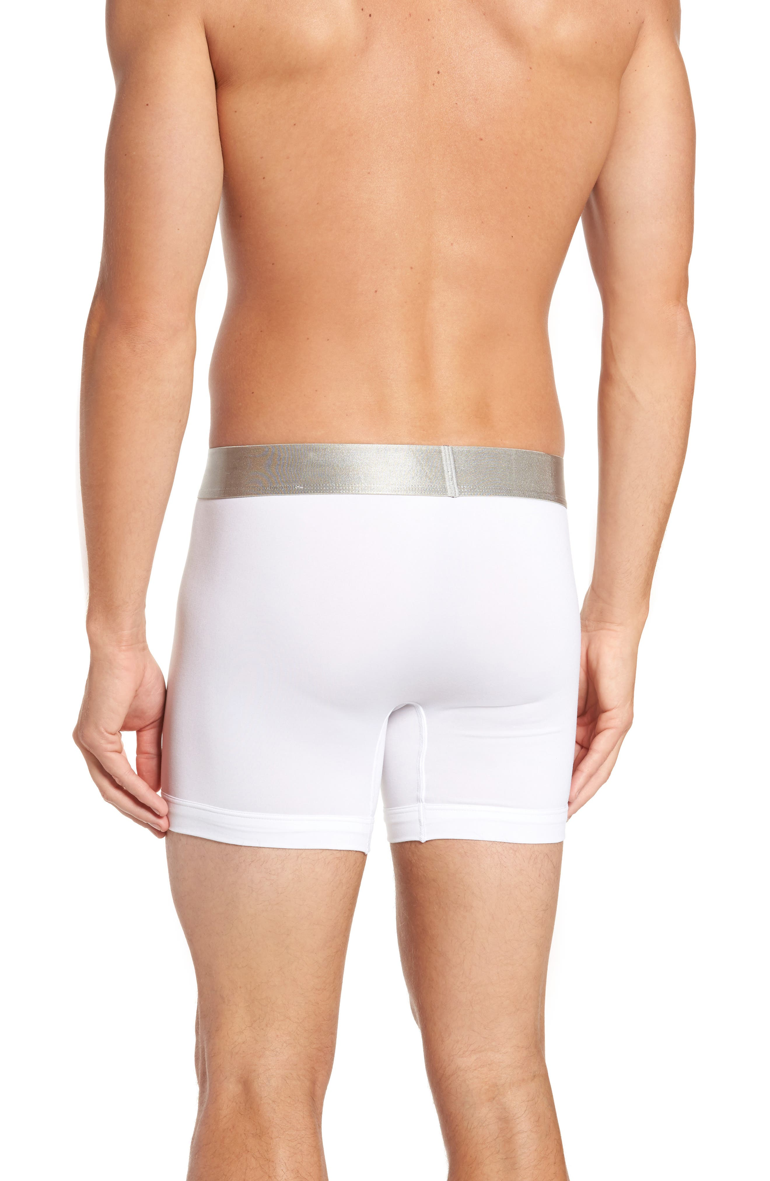 Steel Micro 3-Pack Boxer Briefs,                             Alternate thumbnail 3, color,                             WHITE