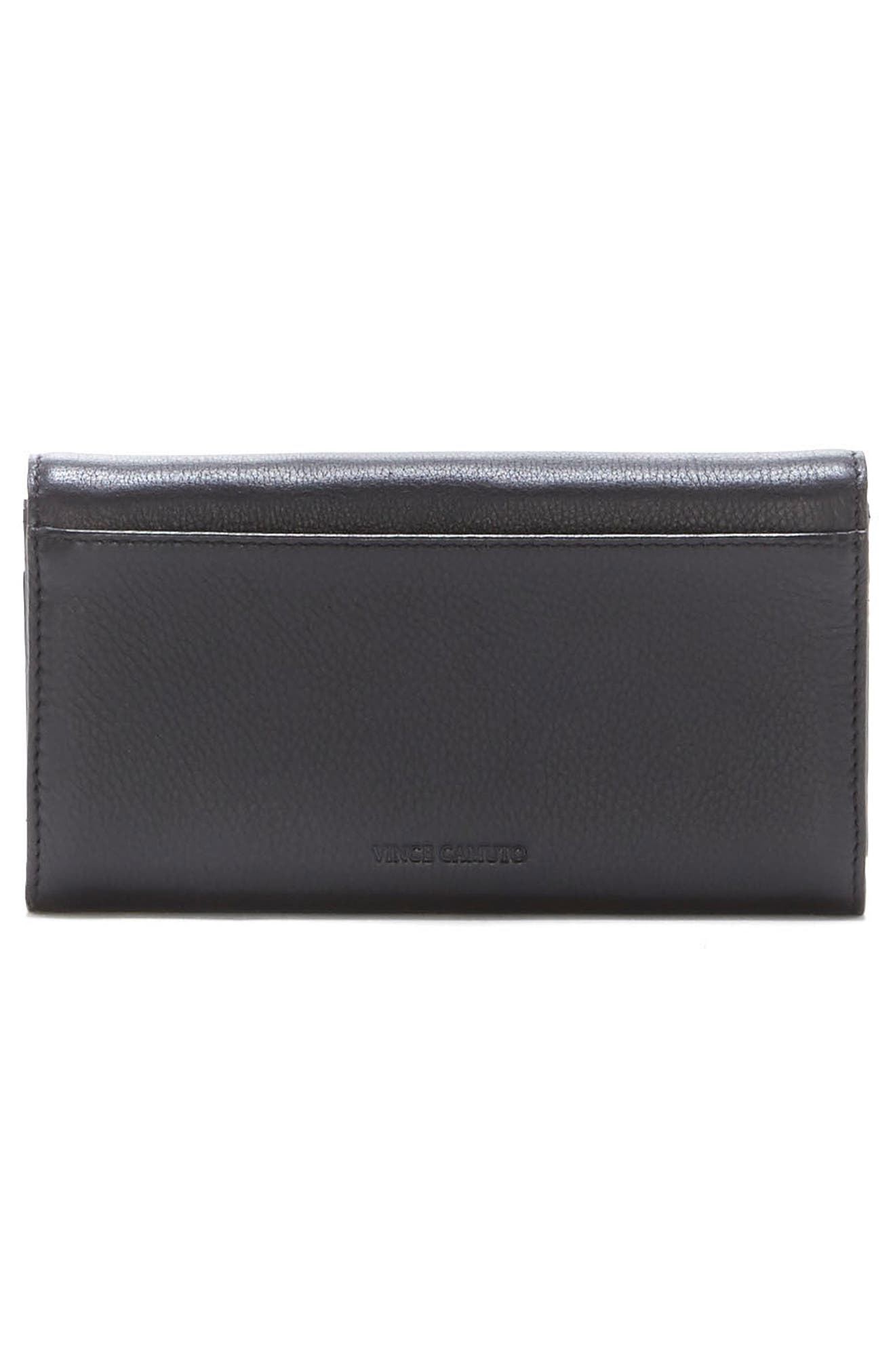 Bitty Leather Wallet,                             Alternate thumbnail 5, color,