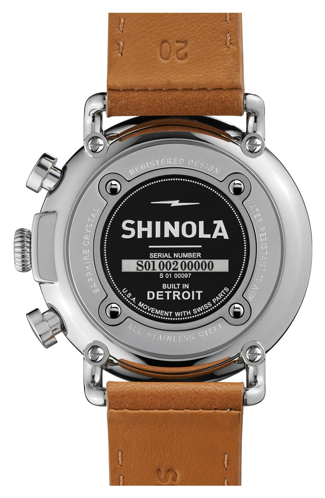'The Runwell Chrono' Leather Strap Watch, 41mm,                             Alternate thumbnail 24, color,