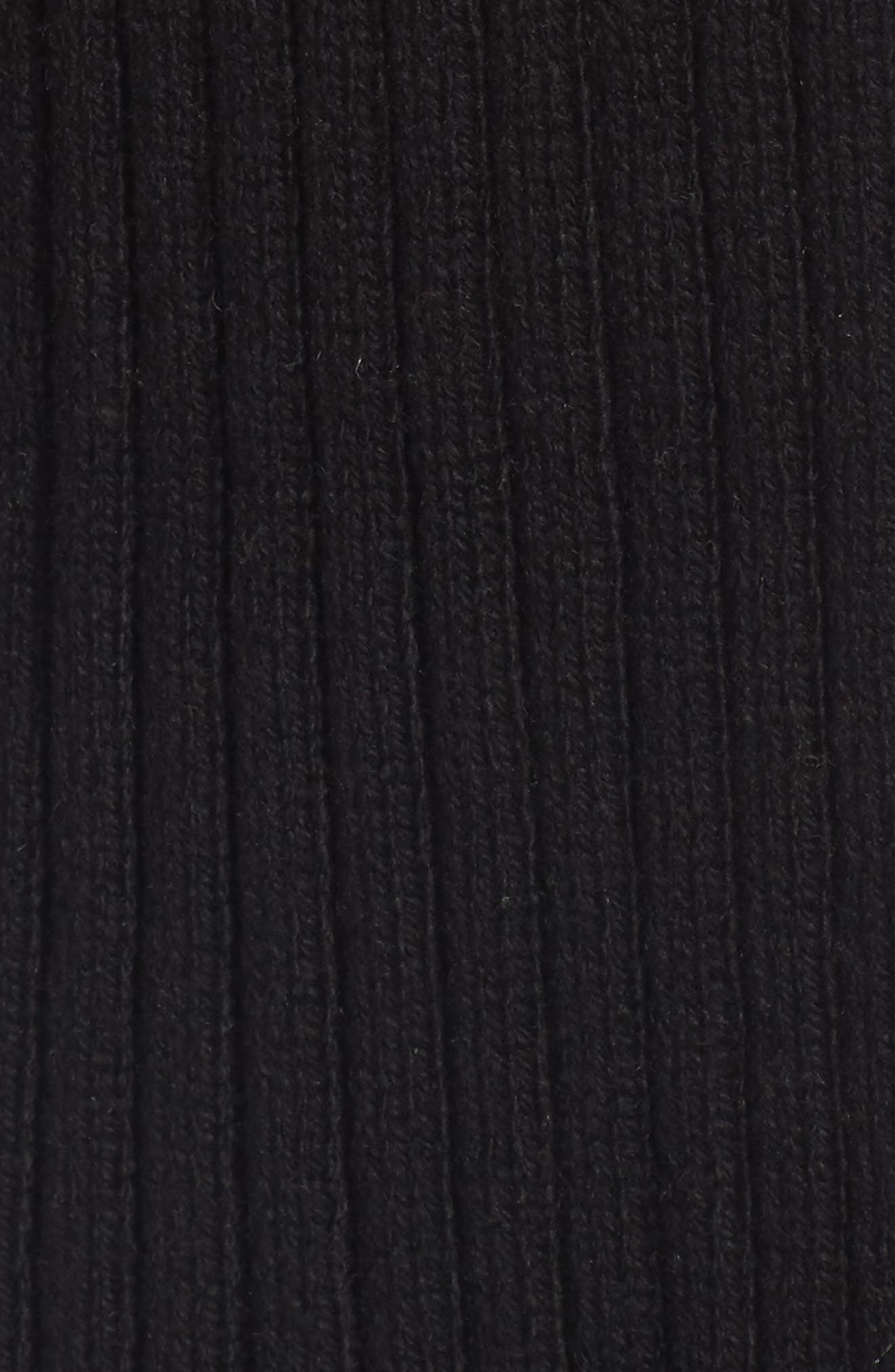 Rib Knit Cardigan,                             Alternate thumbnail 5, color,                             001