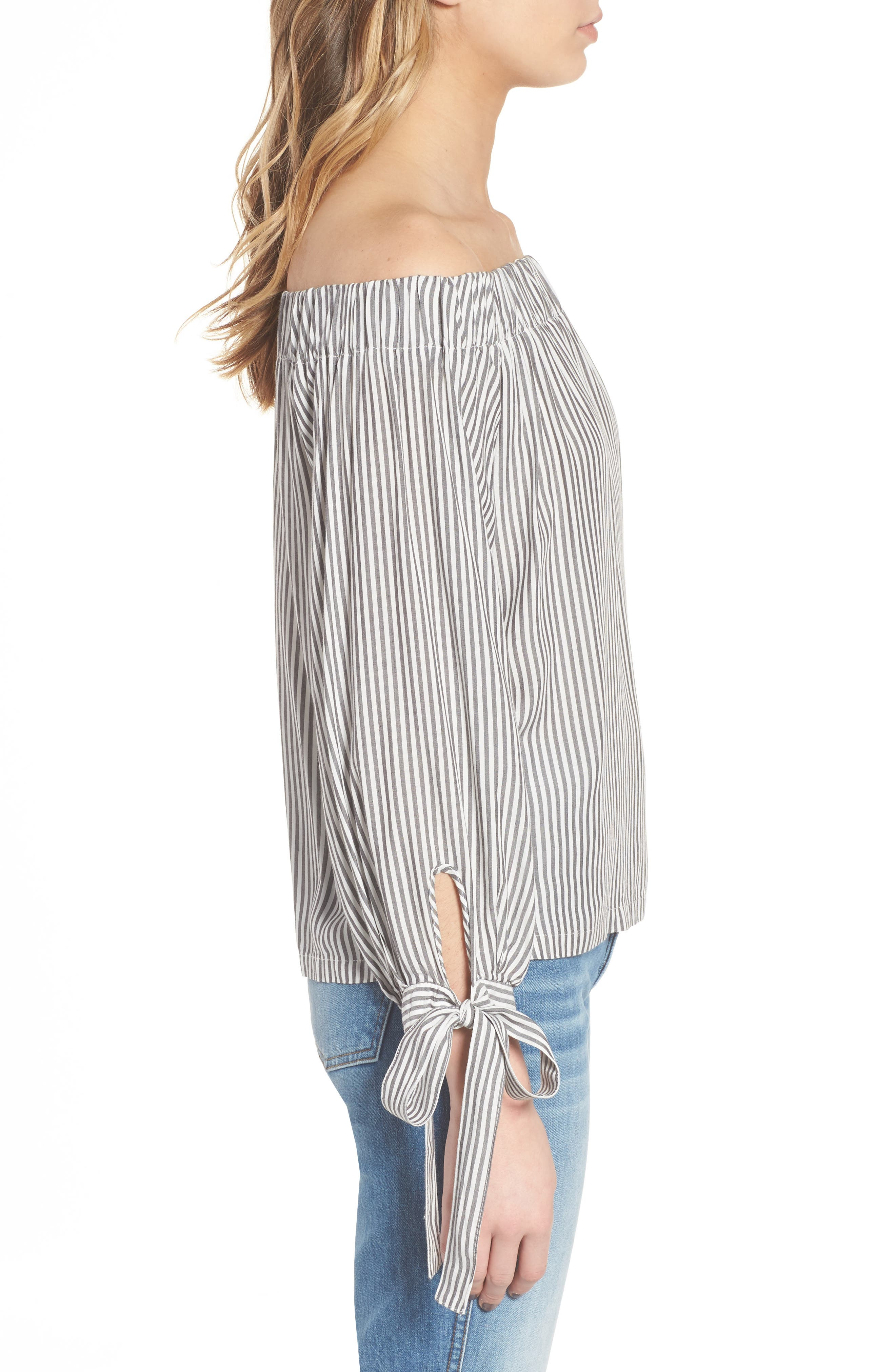 Off the Shoulder Top,                             Alternate thumbnail 3, color,                             054