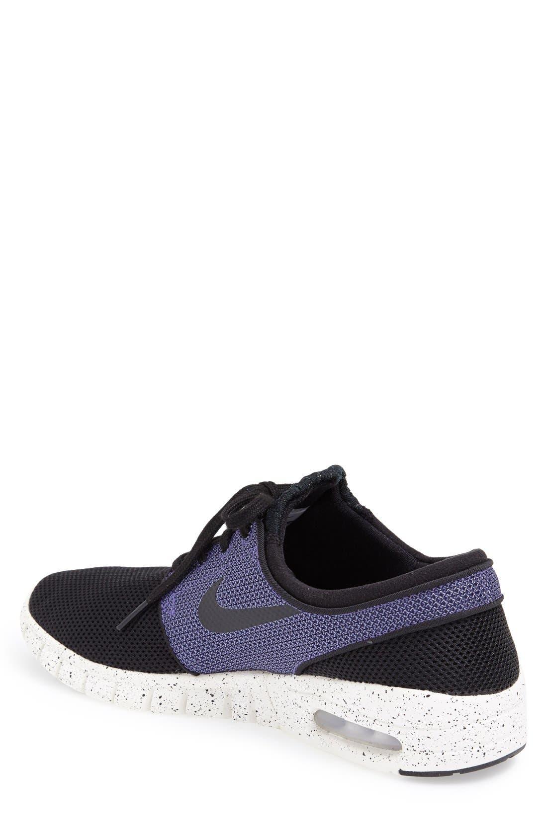 'Stefan Janoski - Max SB' Skate Shoe,                             Alternate thumbnail 10, color,                             BLACK/ PRO PURPLE/ WHITE