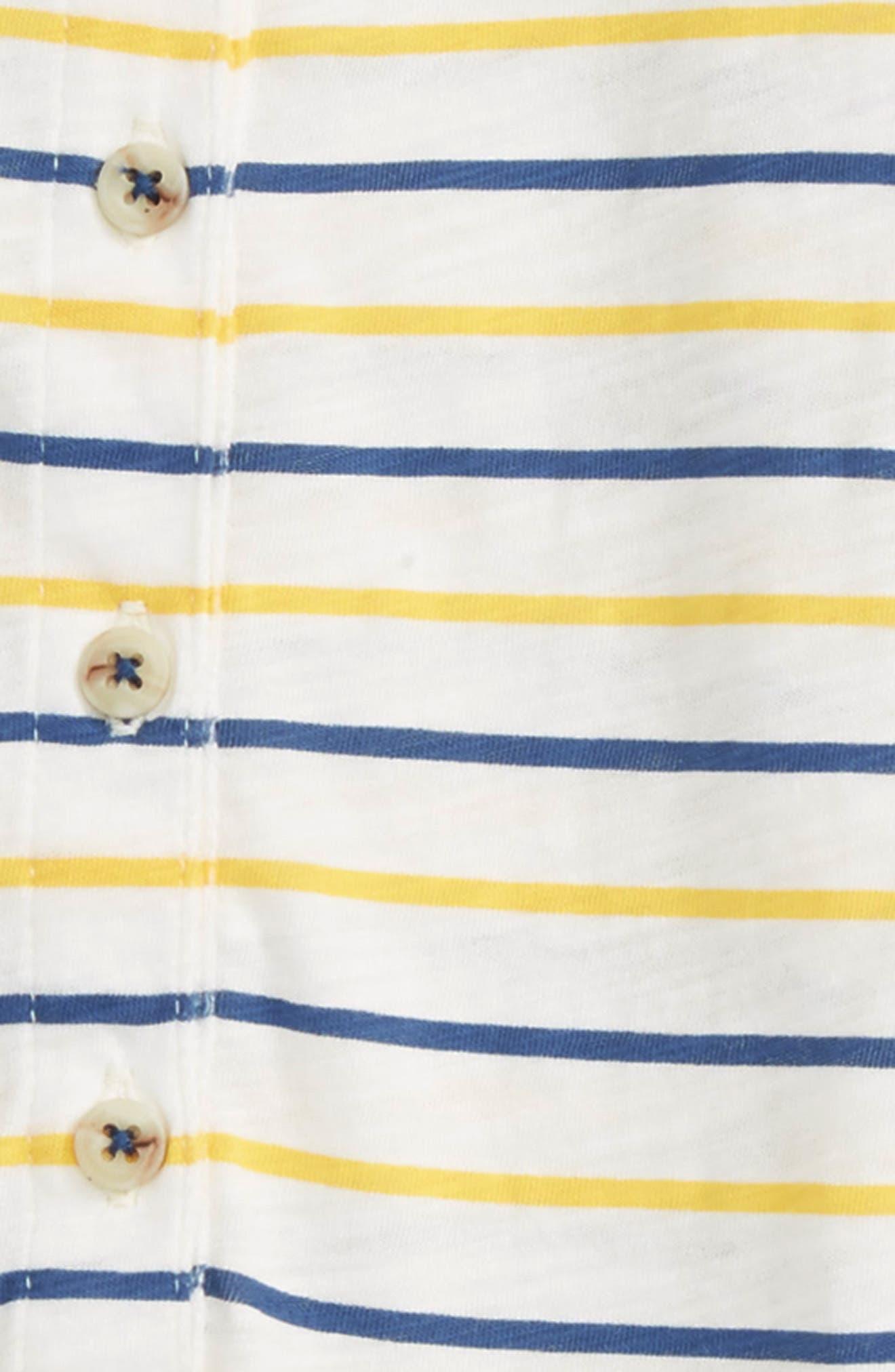 Peek Stripe Hooded Romper,                             Alternate thumbnail 3, color,                             700