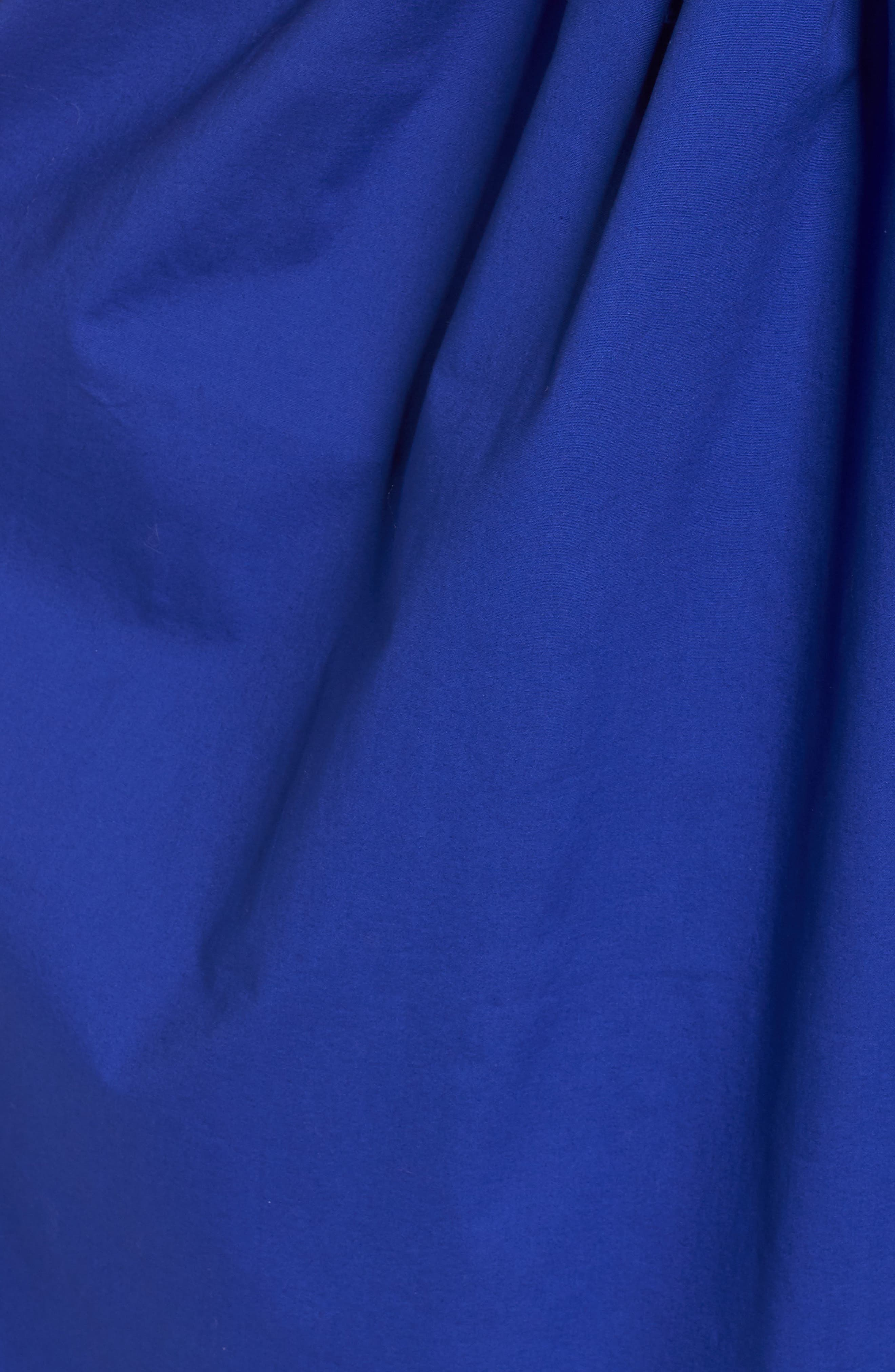 Strappy Fit & Flare Midi Dress,                             Alternate thumbnail 6, color,