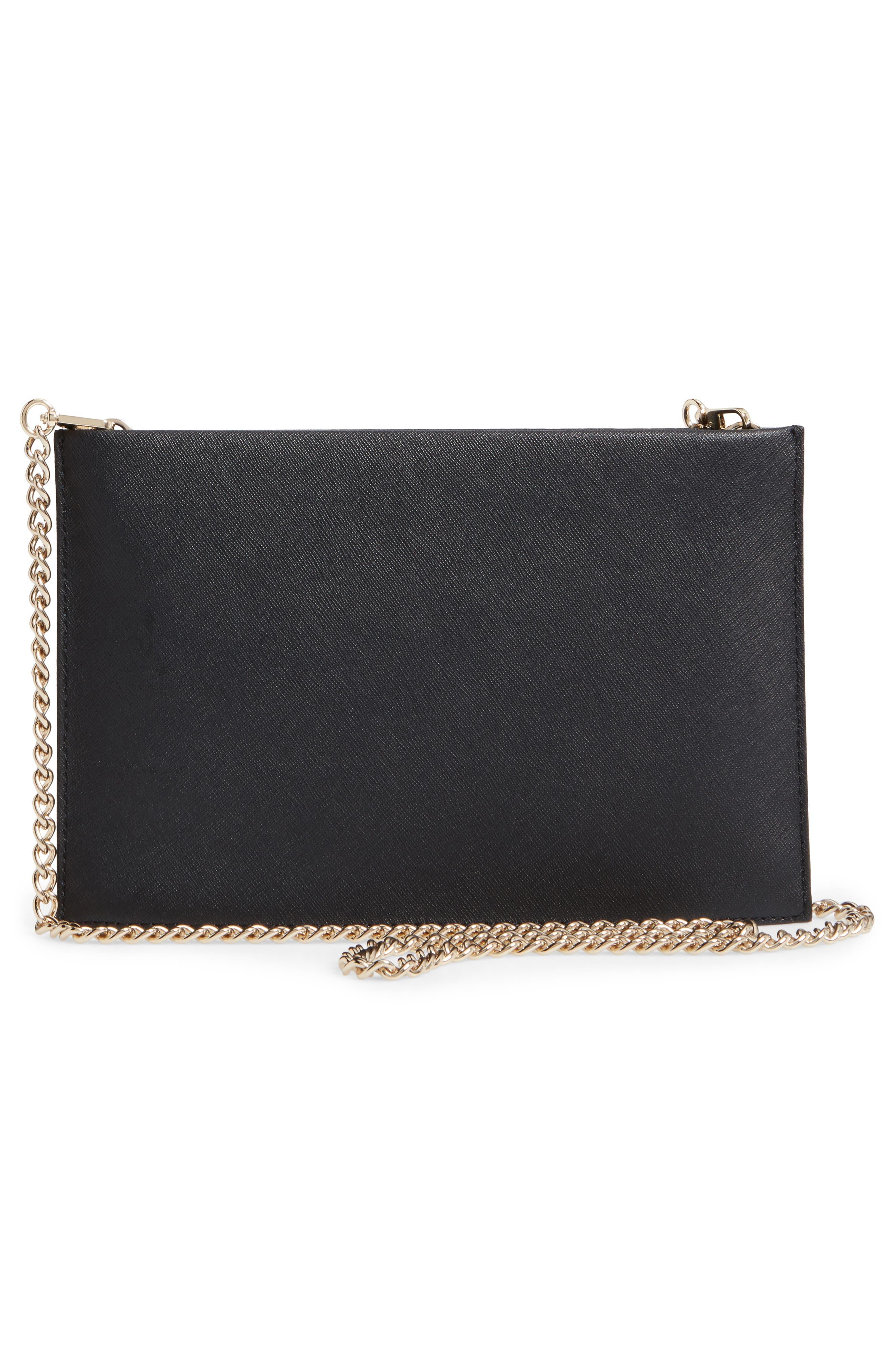 ma cherie - cherries sima leather shoulder bag,                             Alternate thumbnail 3, color,                             001