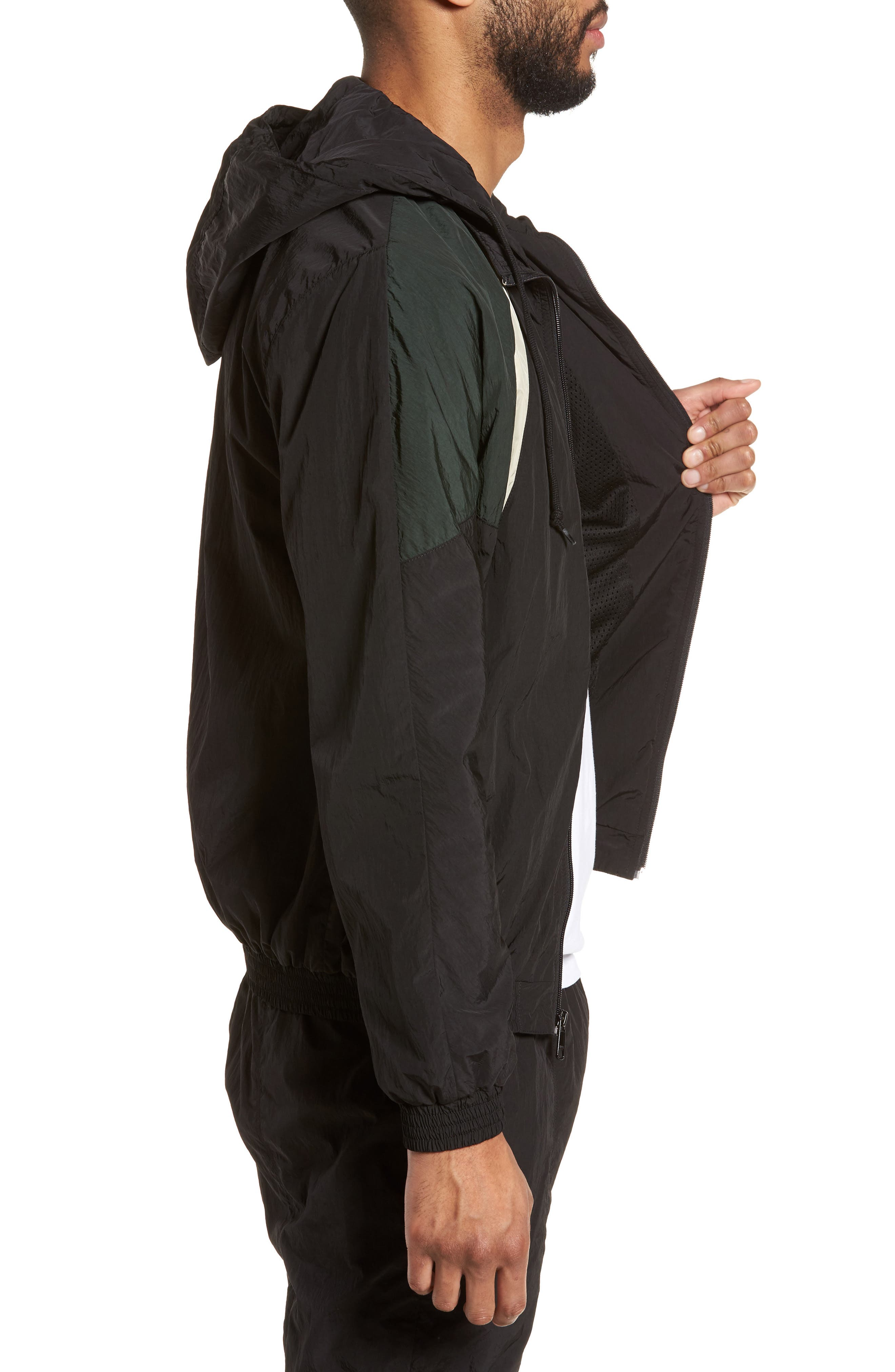 Hooded Shell Jacket,                             Alternate thumbnail 3, color,