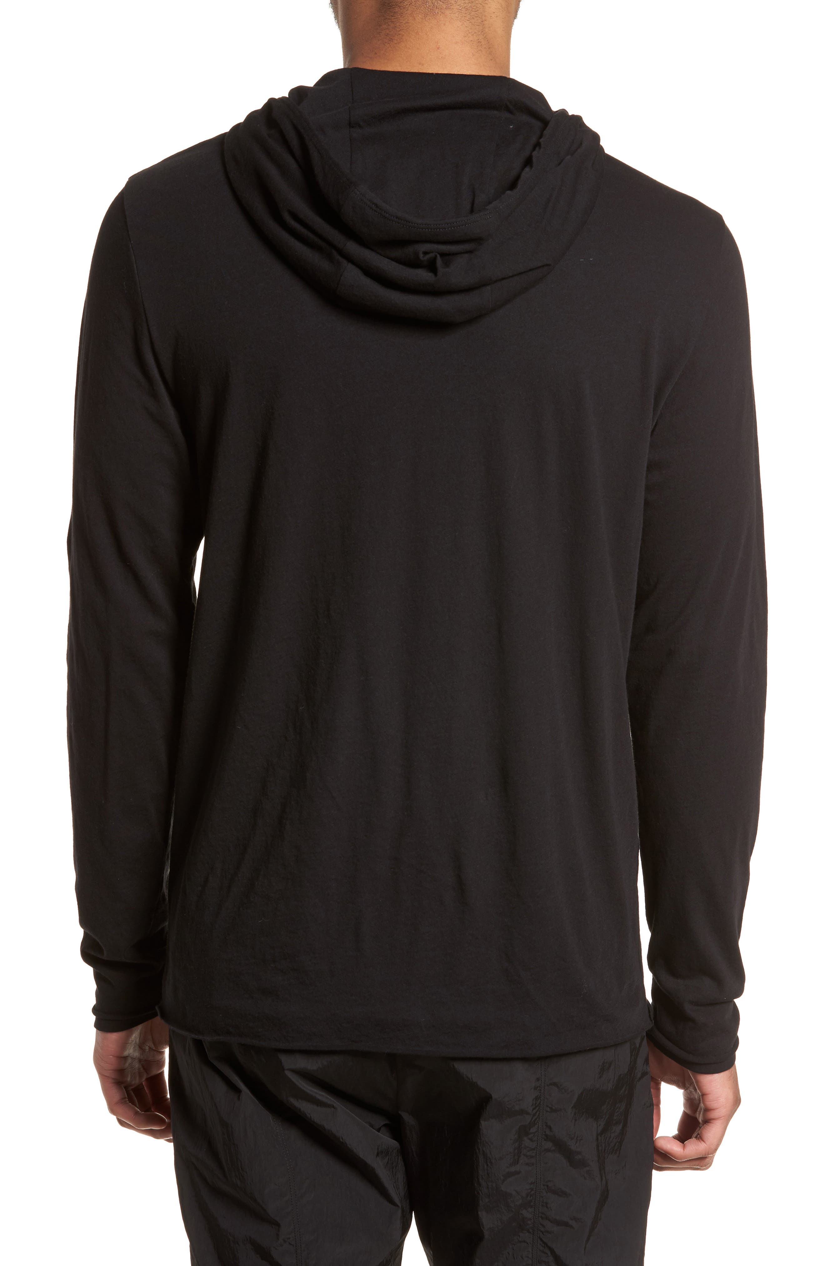 Layered Long Sleeve Pullover Hoodie,                             Alternate thumbnail 2, color,                             001