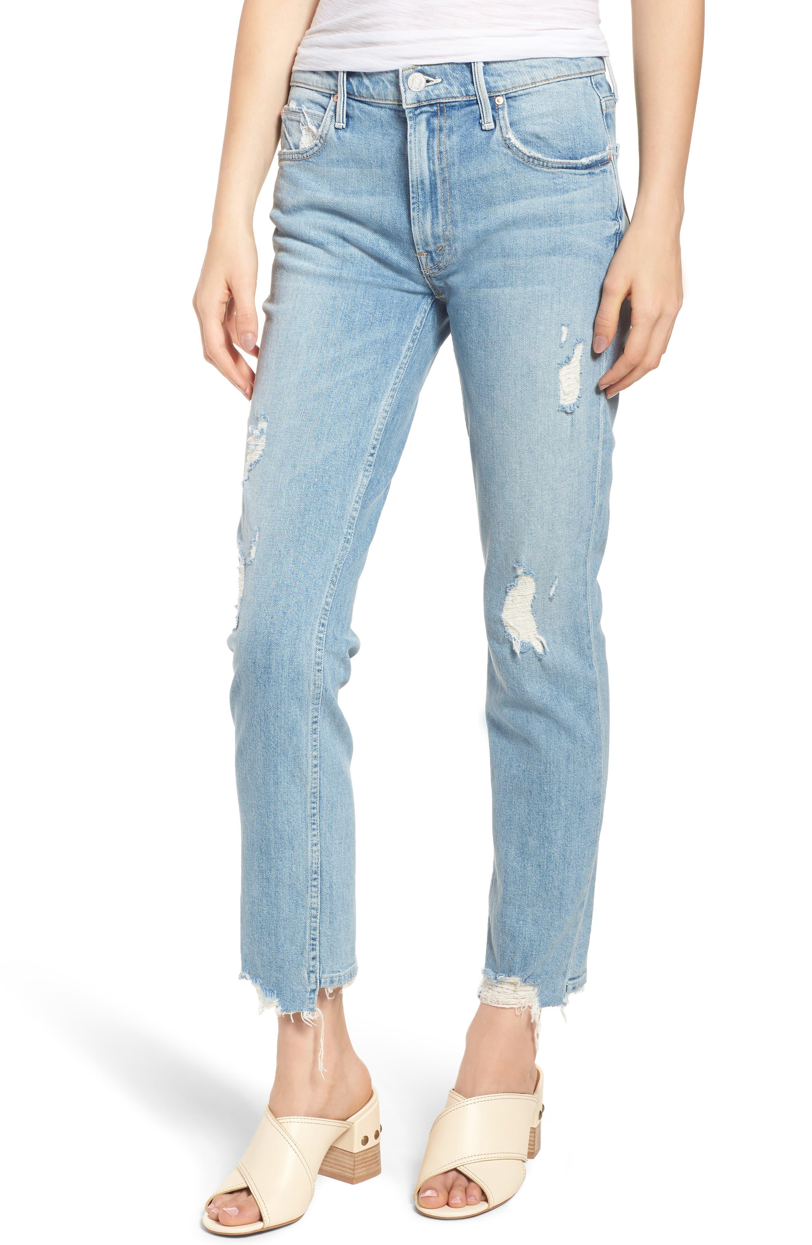 The Flirt Ankle Slim Jeans,                         Main,                         color, 400