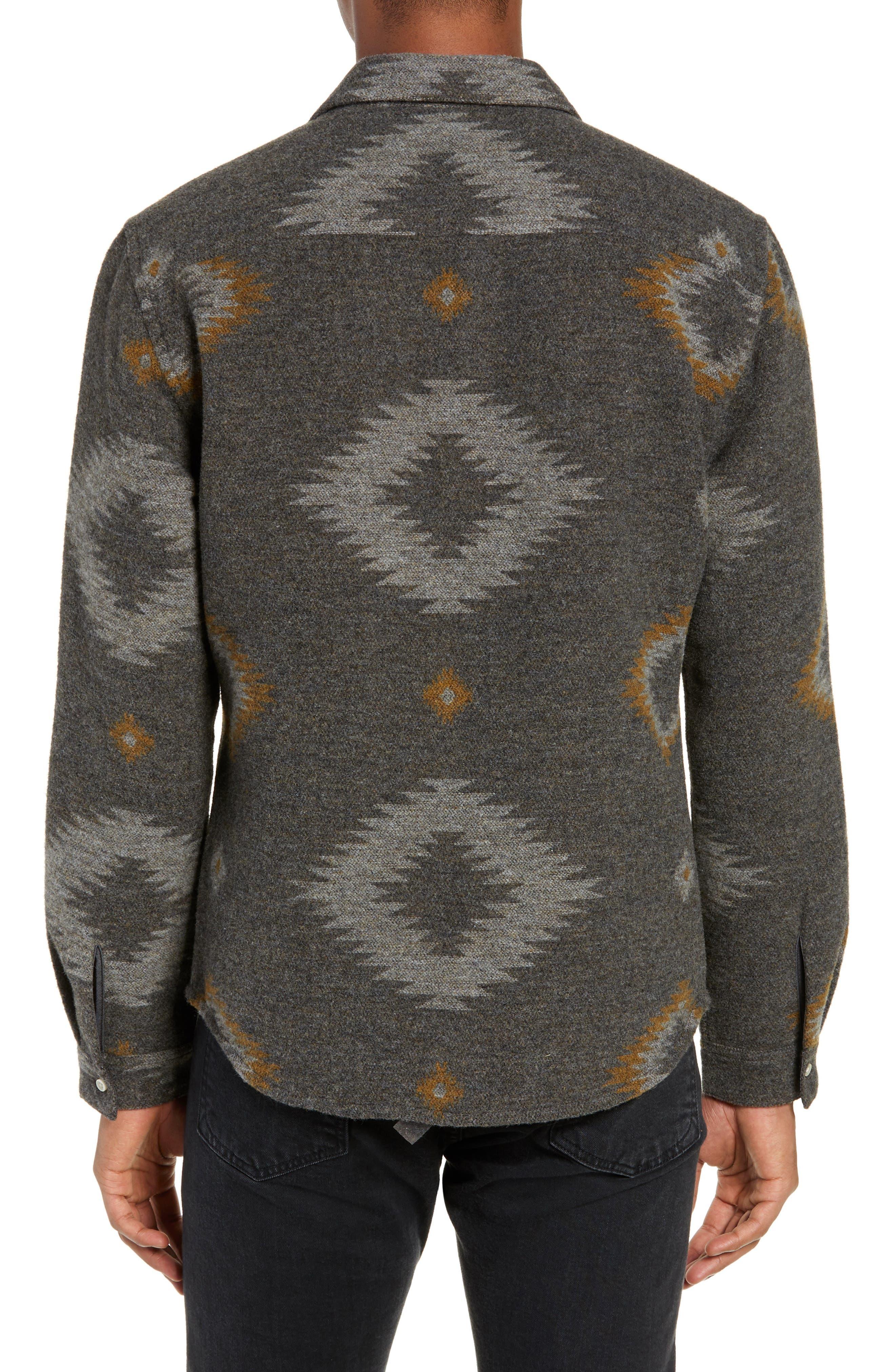 Warrior Regular Fit Wool Blend Shirt Jacket,                             Alternate thumbnail 3, color,                             HEATHER CHARCOAL