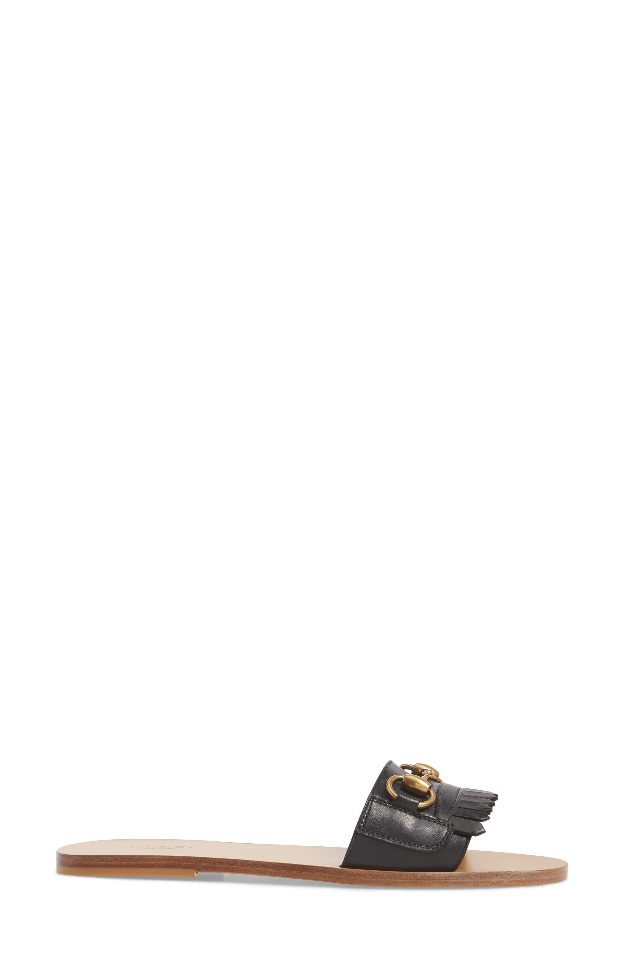 Slide Sandal,                             Alternate thumbnail 3, color,                             BLACK