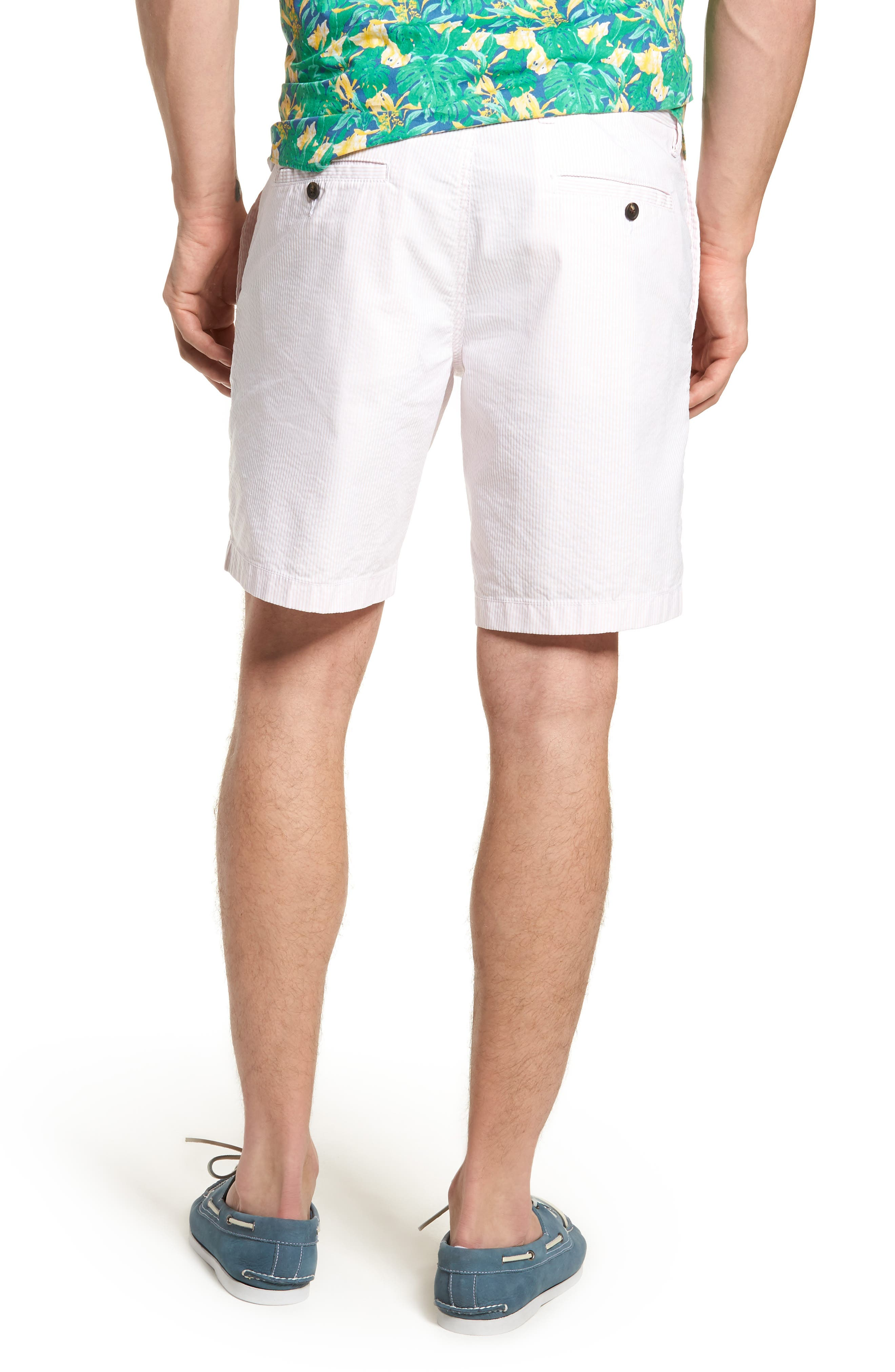 Ballard Slim Fit Seersucker Shorts,                             Alternate thumbnail 4, color,