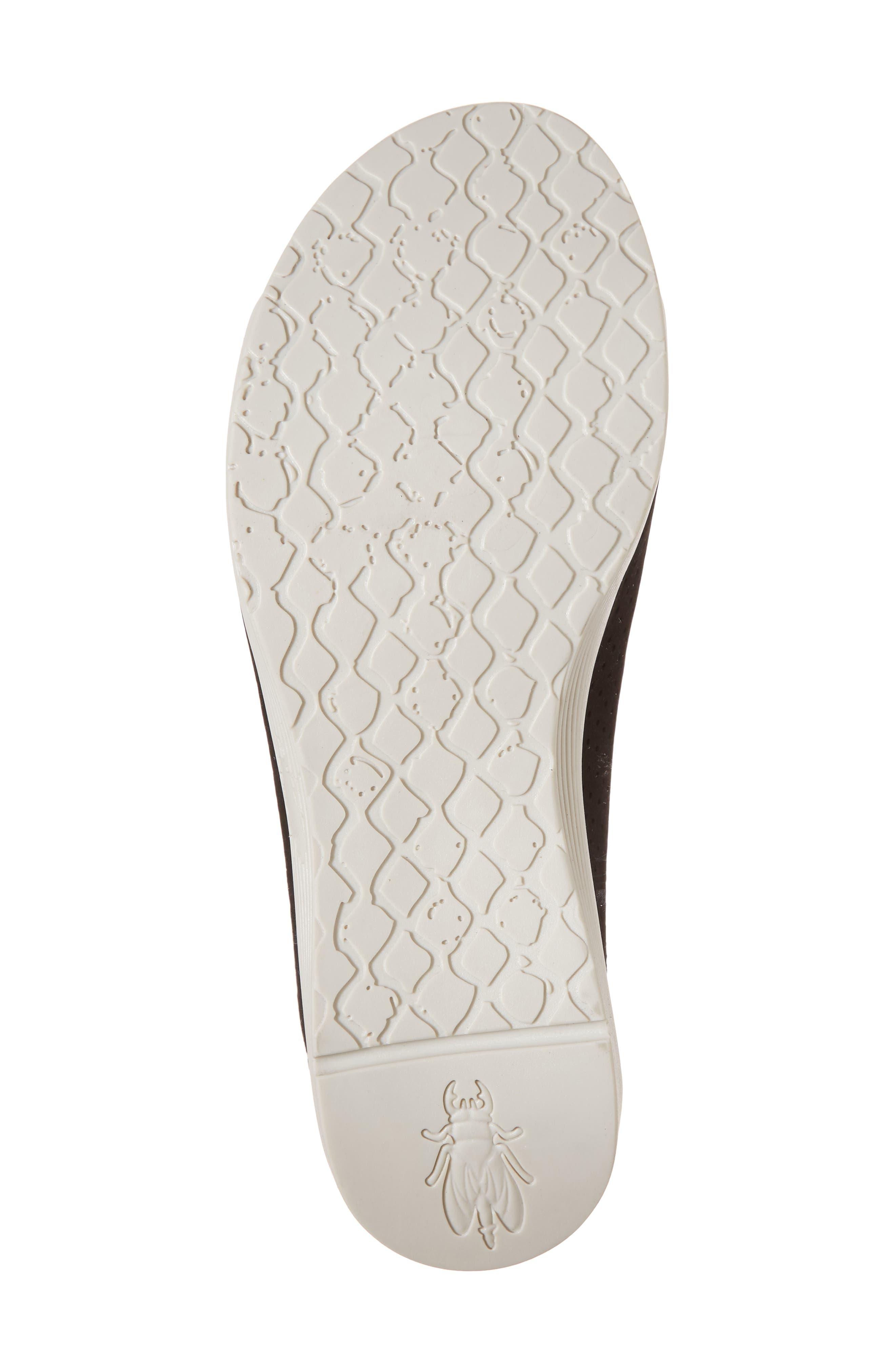 Whin Platform Sandal,                             Alternate thumbnail 6, color,                             BLACK CUPIDO LEATHER