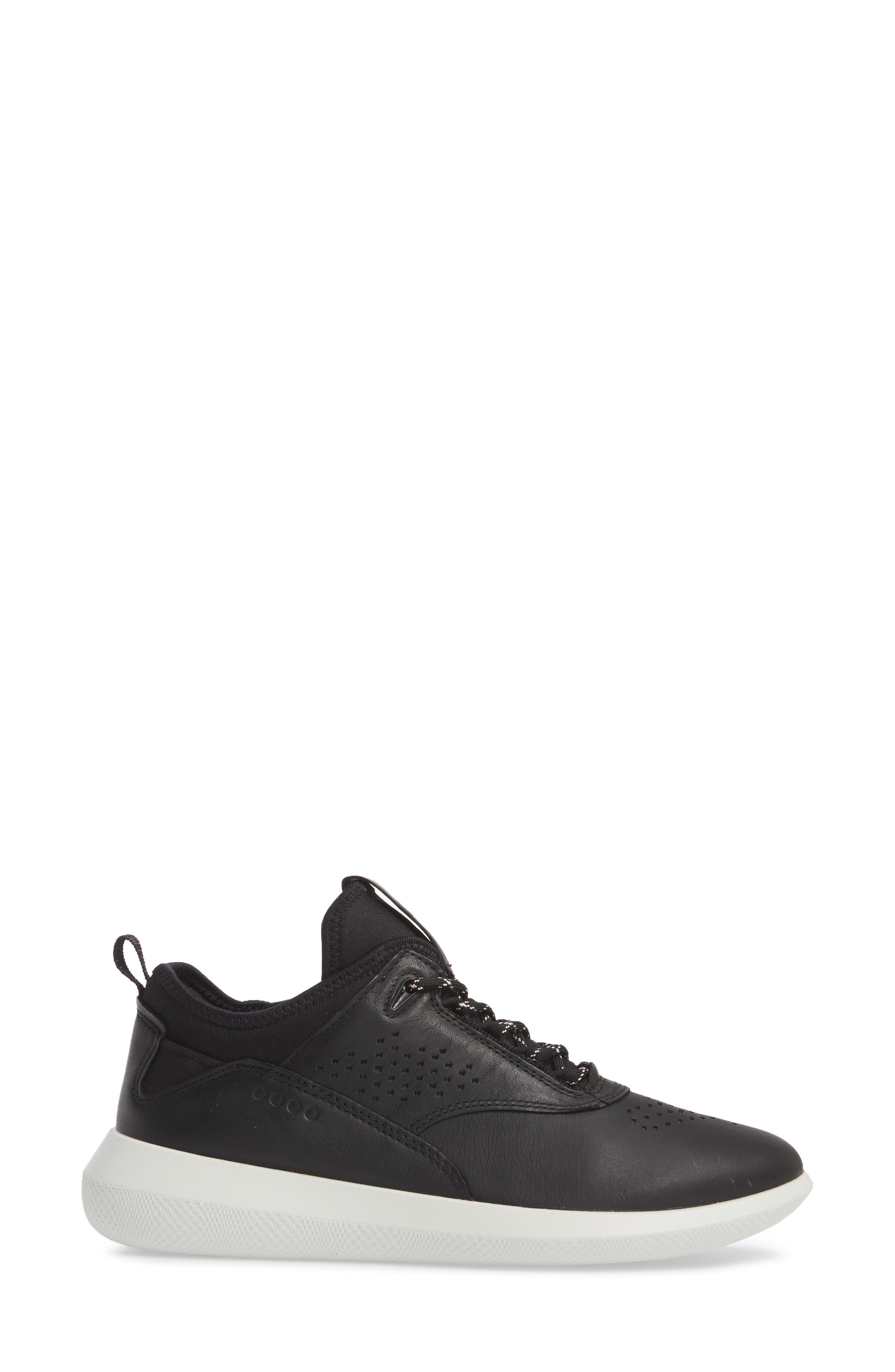 Scinapse Sneaker,                             Alternate thumbnail 3, color,                             BLACK LEATHER