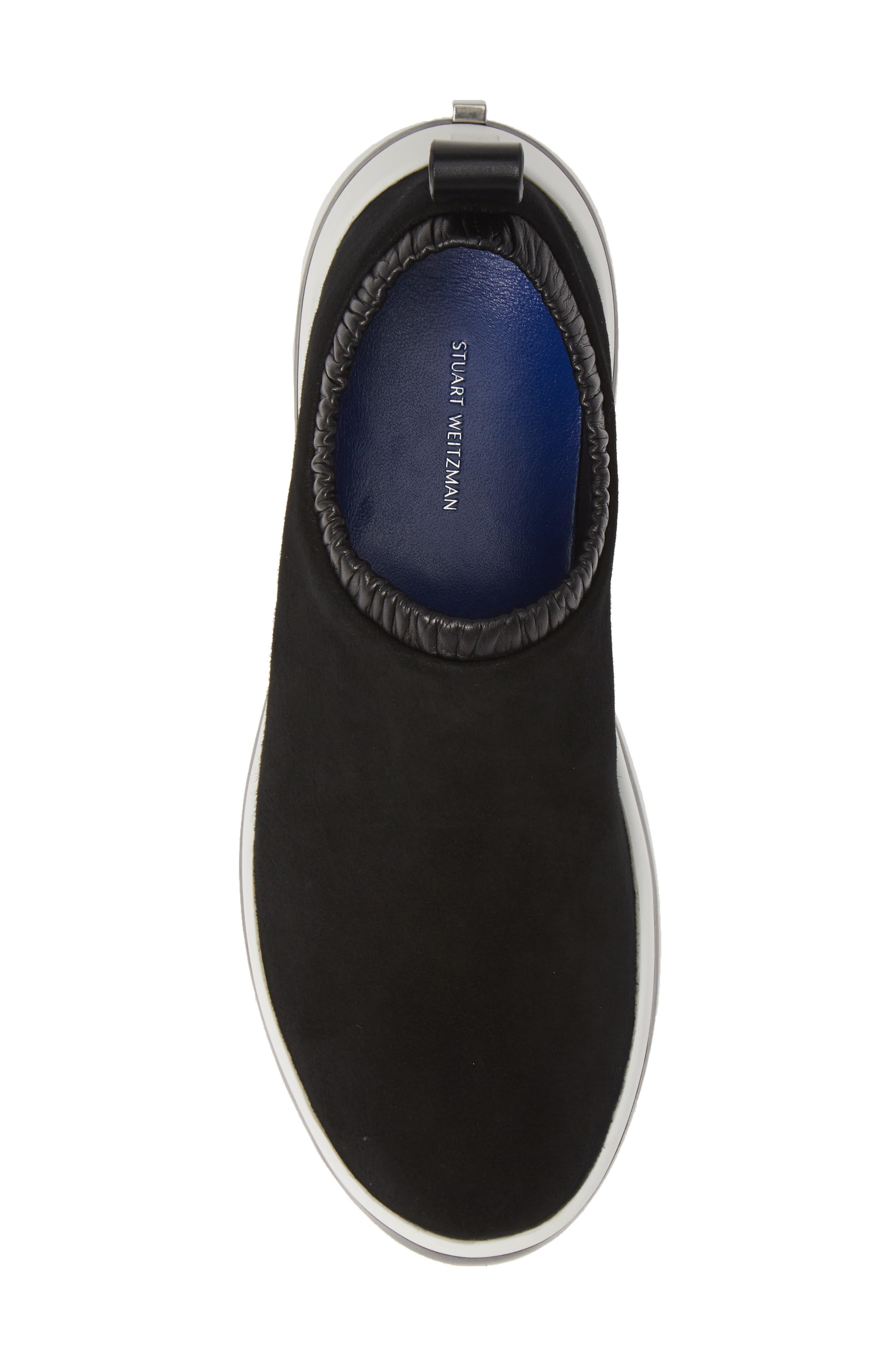 612 Sneaker,                             Alternate thumbnail 5, color,                             BLACK SUEDE