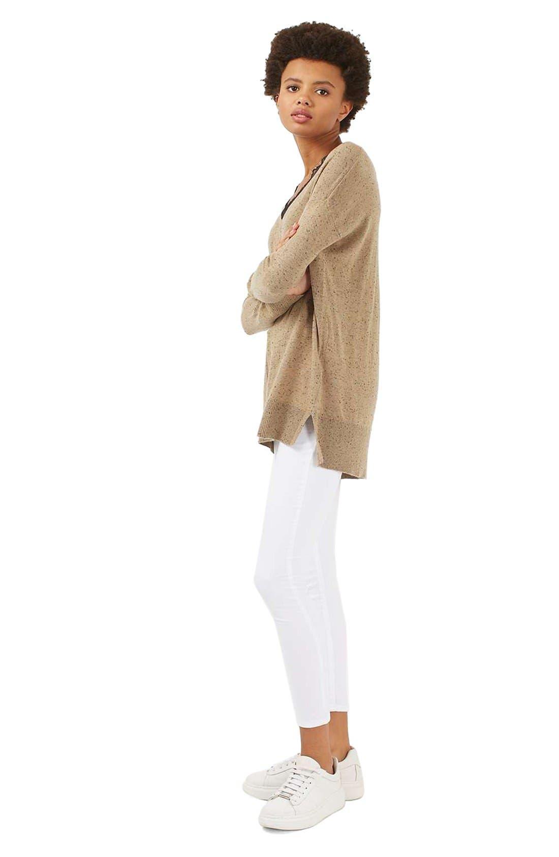 Lace V-Neck Sweater Tunic,                             Alternate thumbnail 7, color,                             230