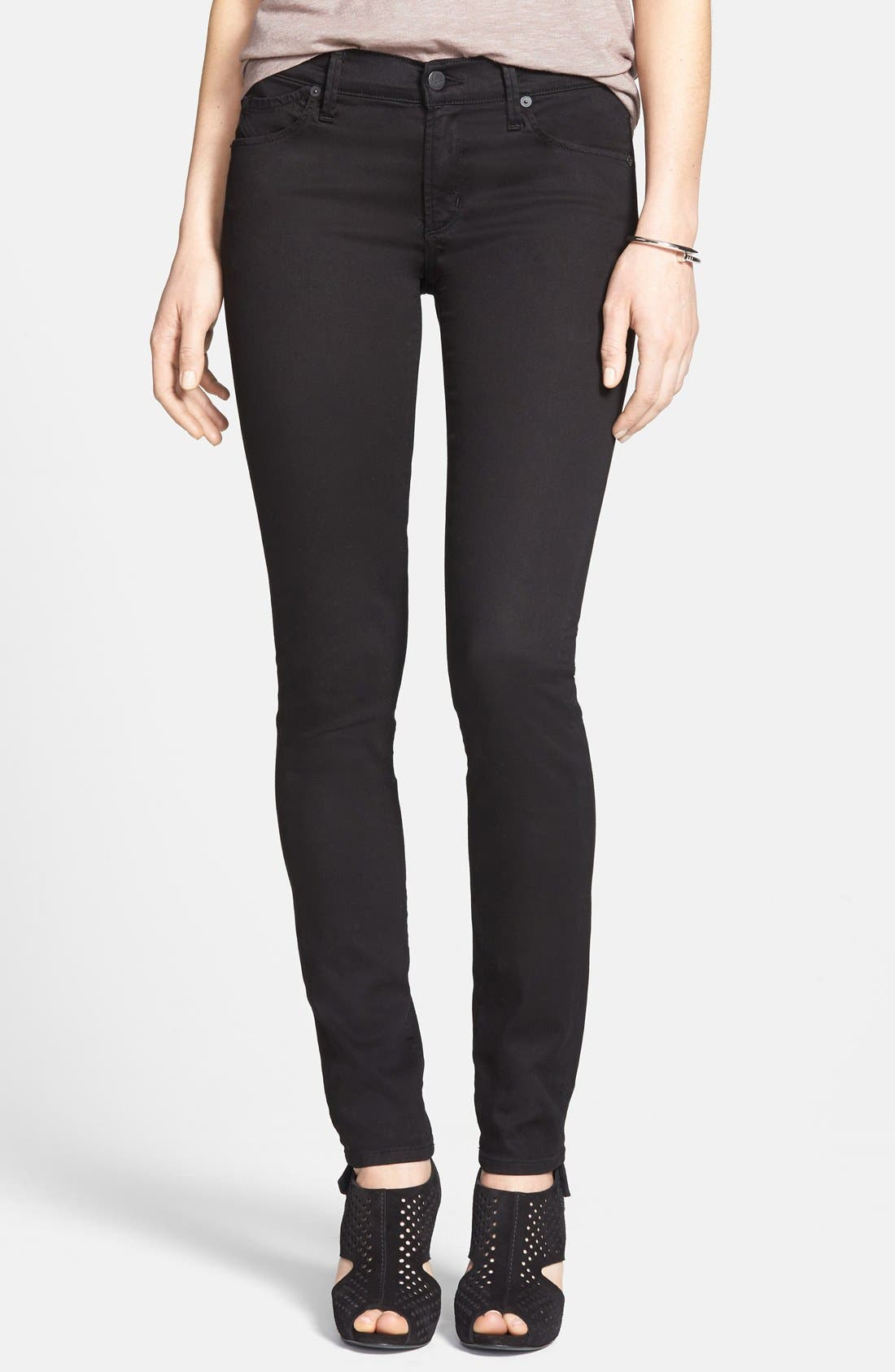 'Avedon' Ultra Skinny Jeans,                             Main thumbnail 1, color,                             001