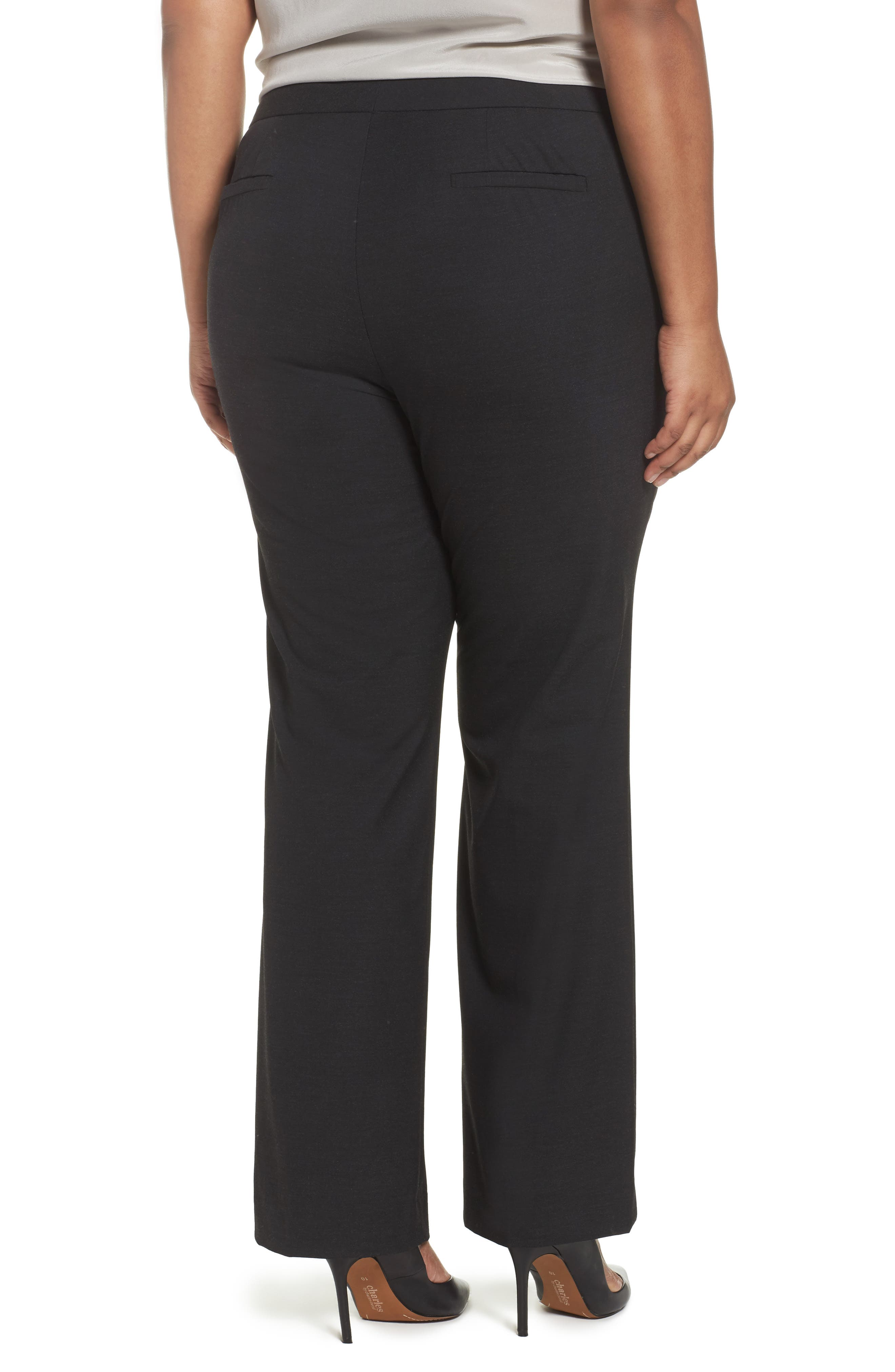 'Ela' Stretch Curvy Fit Wide Leg Suit Pants,                             Alternate thumbnail 2, color,                             022