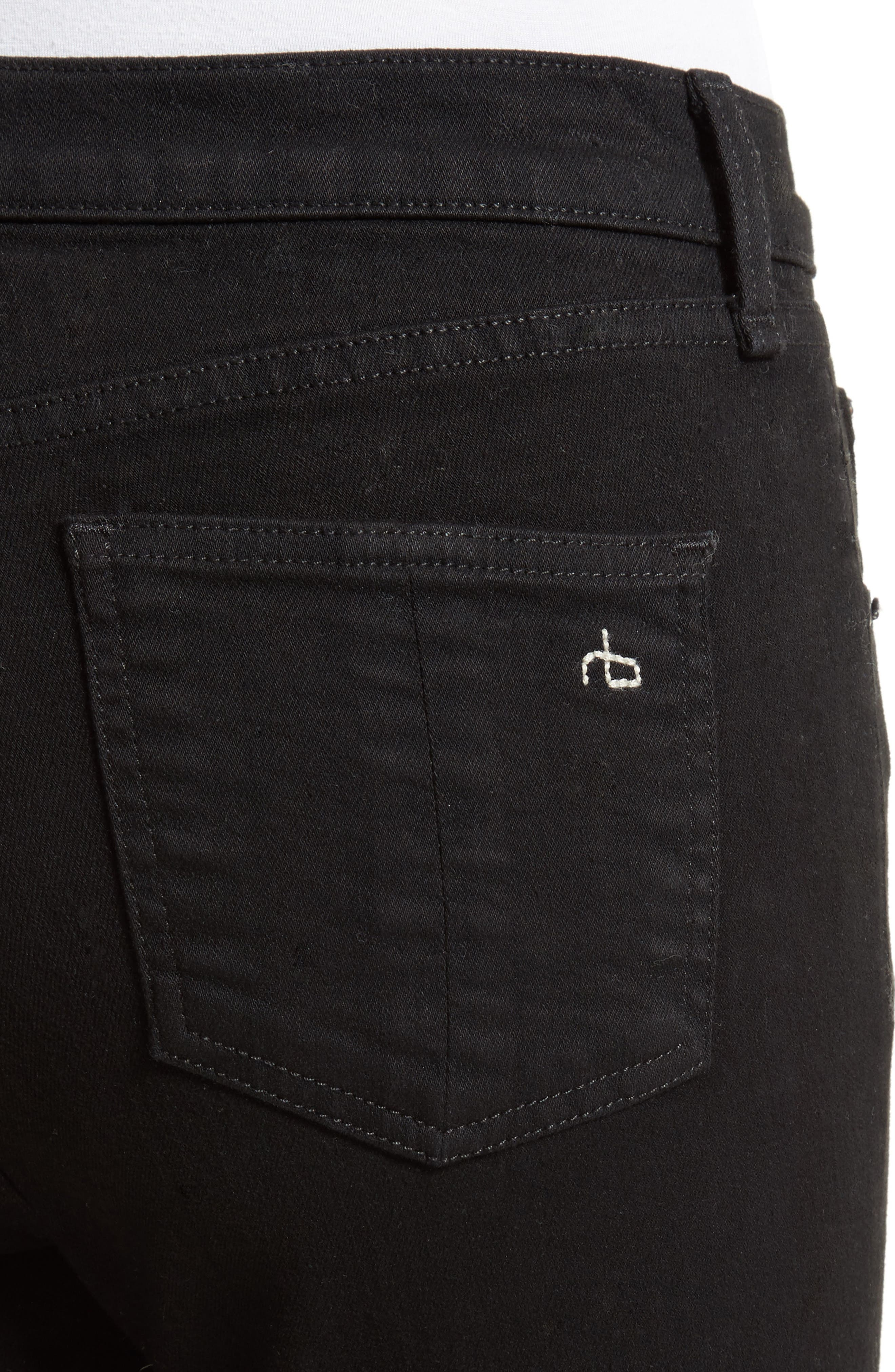 Cutoff Capri Jeans,                             Alternate thumbnail 4, color,                             001