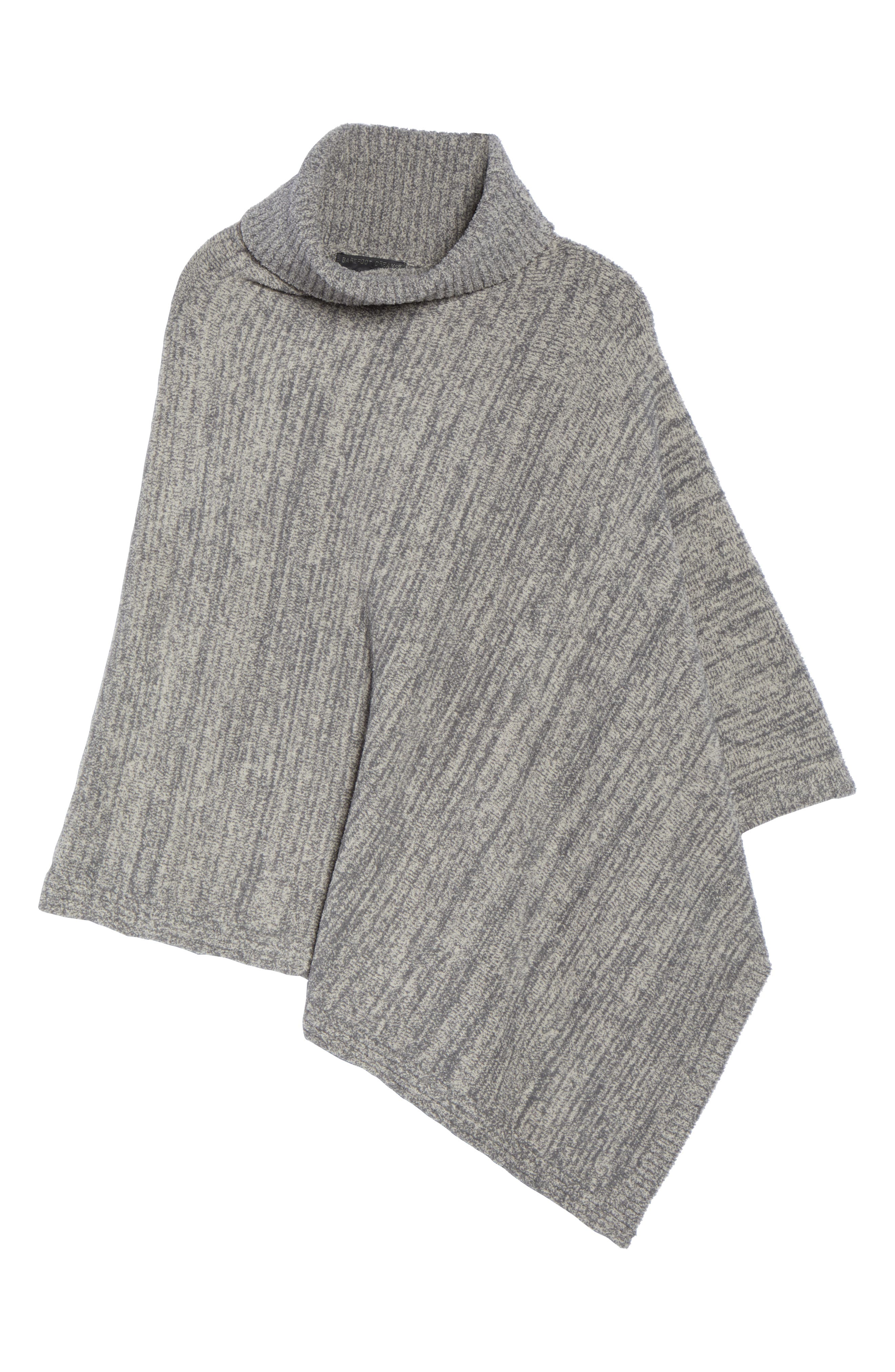 Cozychic<sup>®</sup> Point Dume Poncho,                             Alternate thumbnail 6, color,                             GRAPHITE/ STONE HEATHERED