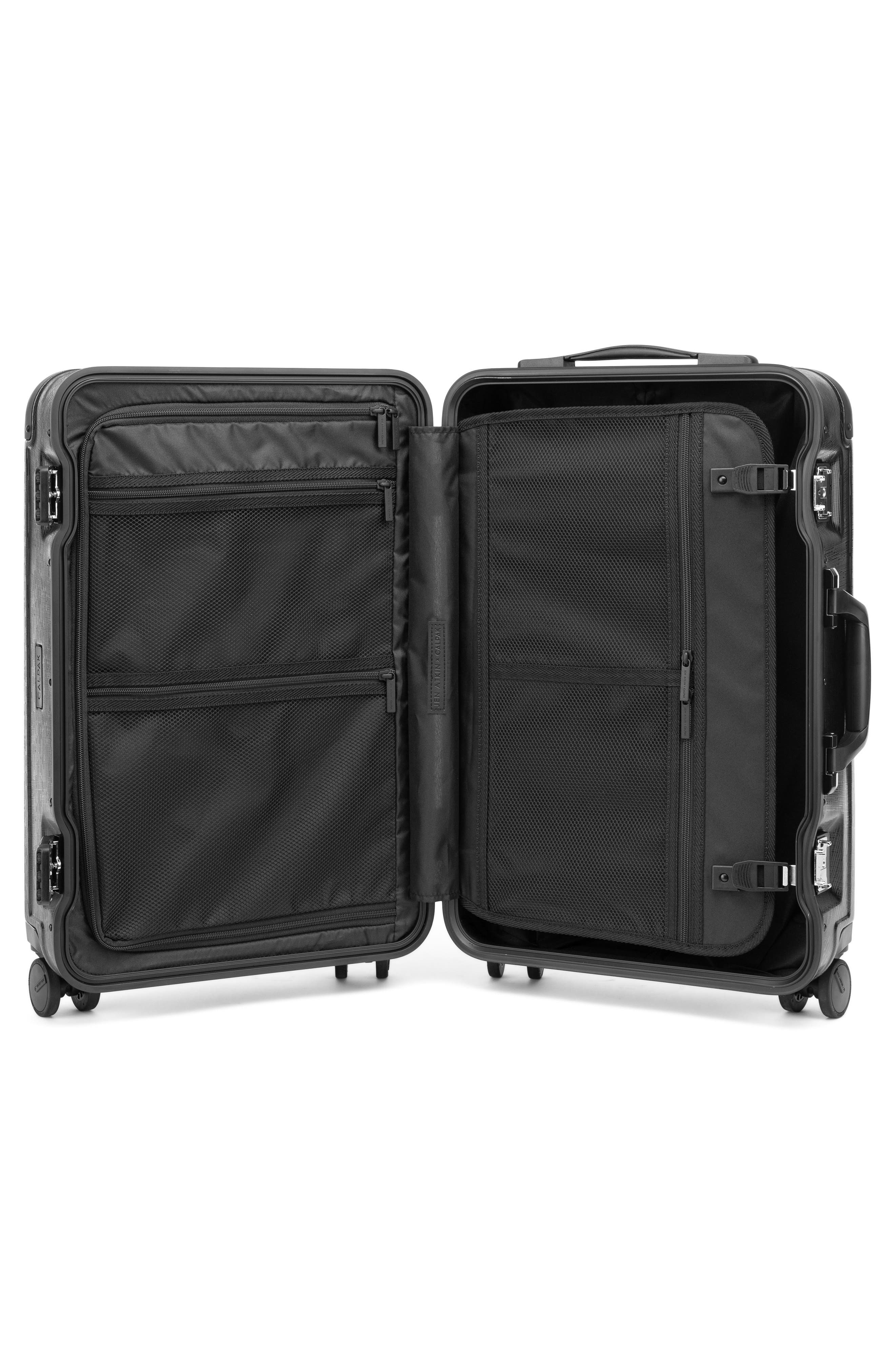 x Jen Atkin 22-Inch Carry-On Suitcase,                             Alternate thumbnail 2, color,                             BLACK