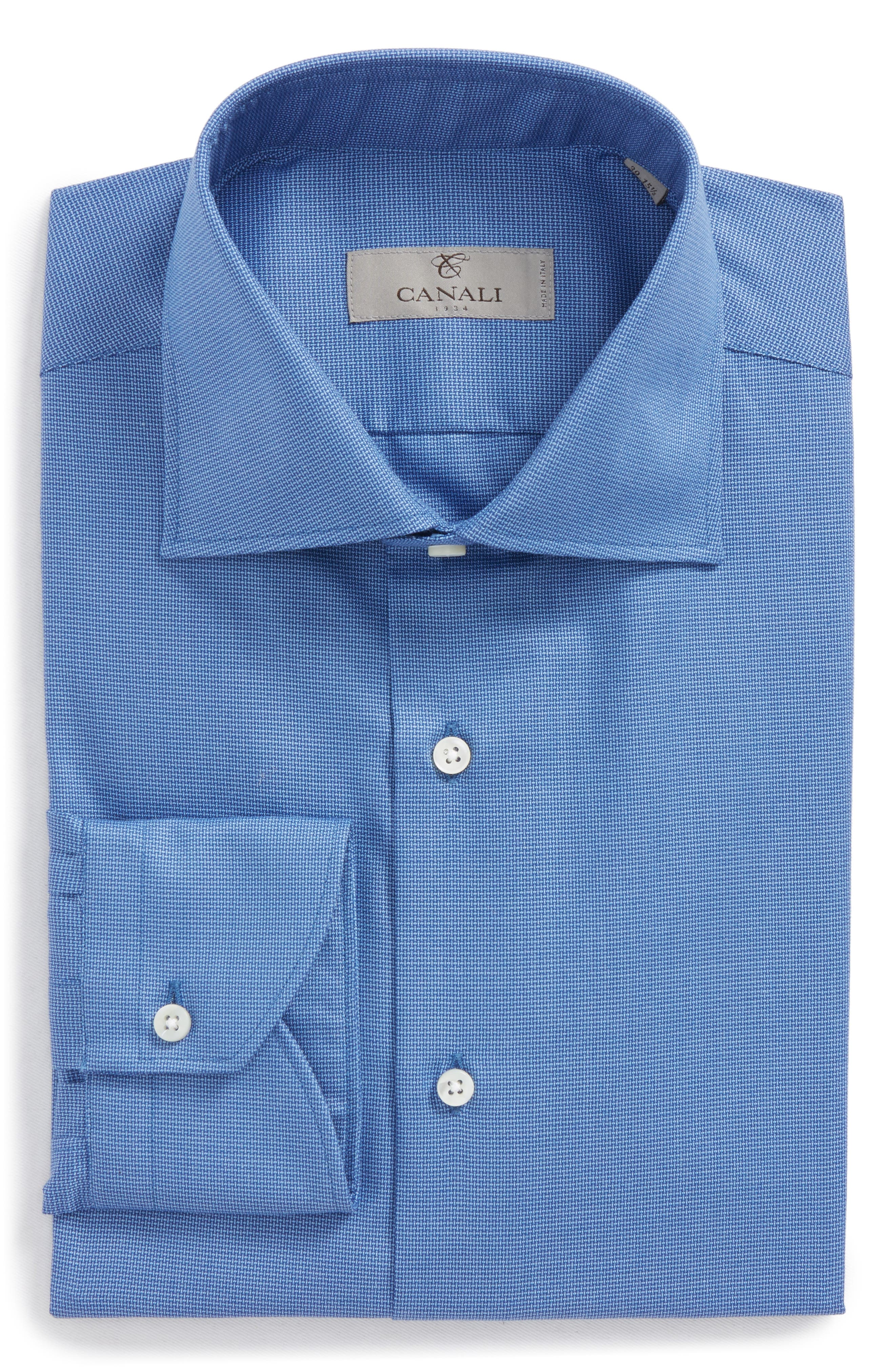 Regular Fit Solid Dress Shirt,                             Main thumbnail 1, color,                             400