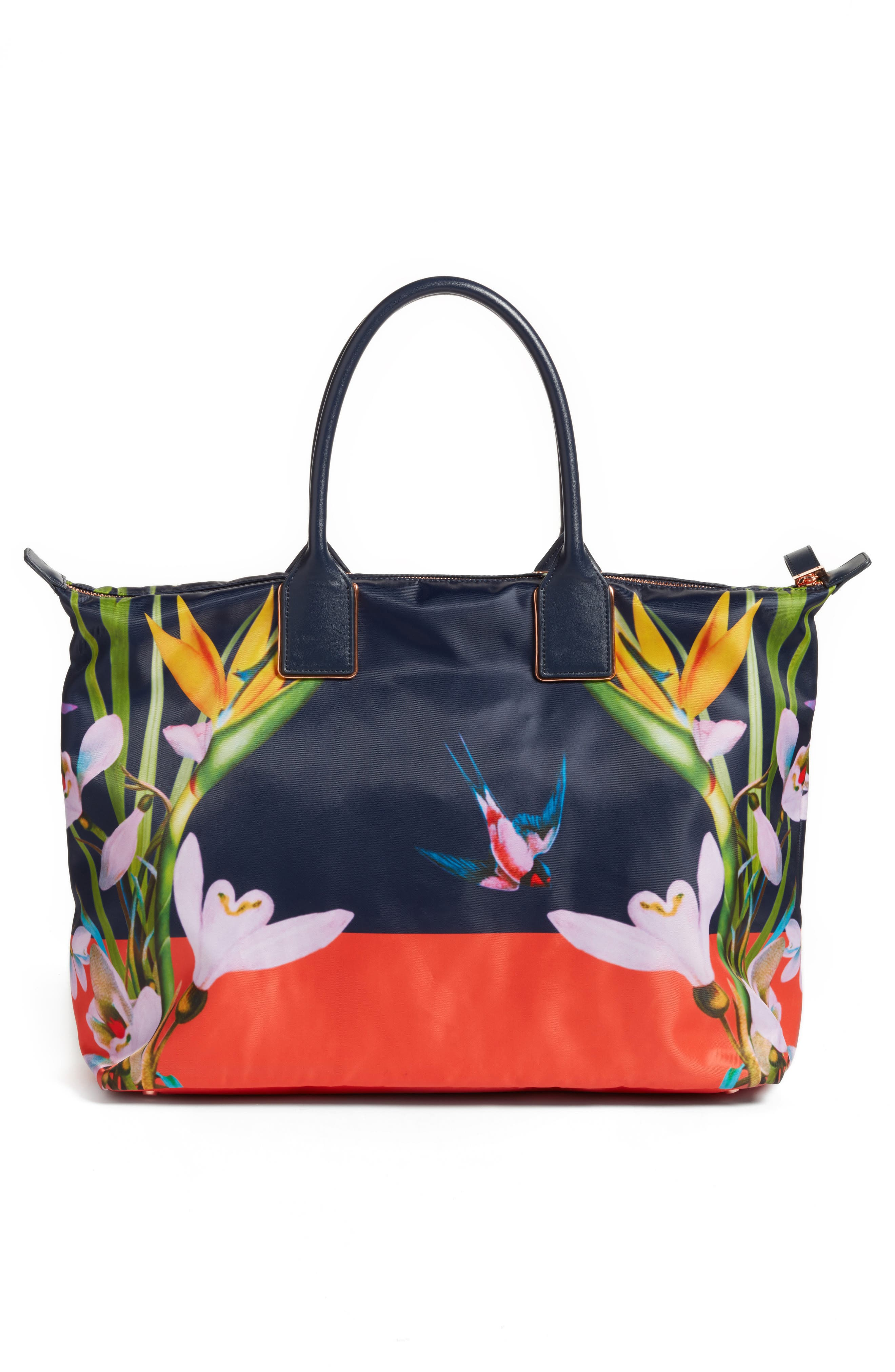 Tropical Oasis Large Tote,                             Alternate thumbnail 3, color,                             410