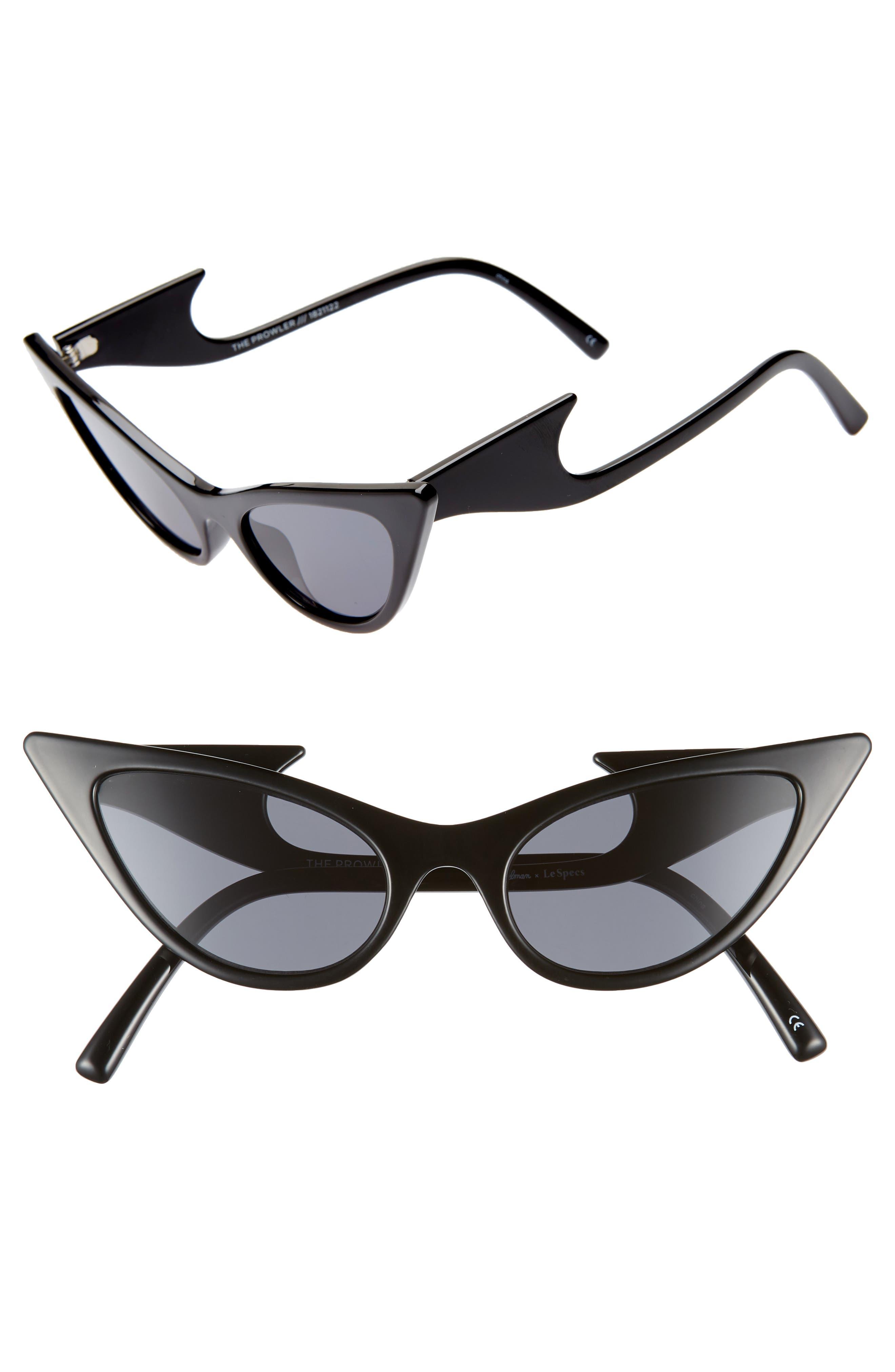 The Prowler 55mm Sunglasses,                             Main thumbnail 1, color,                             BLACK