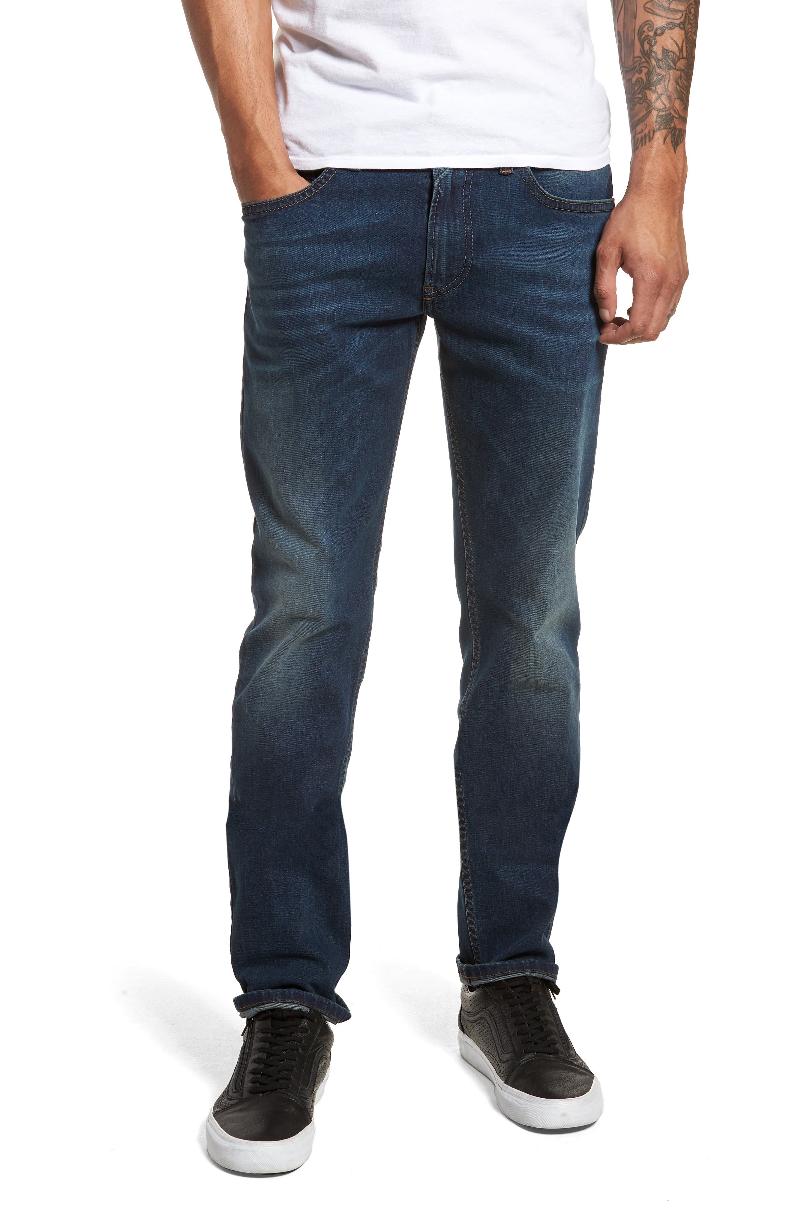 Thommer Skinny Fit Jeans,                         Main,                         color, BLUE