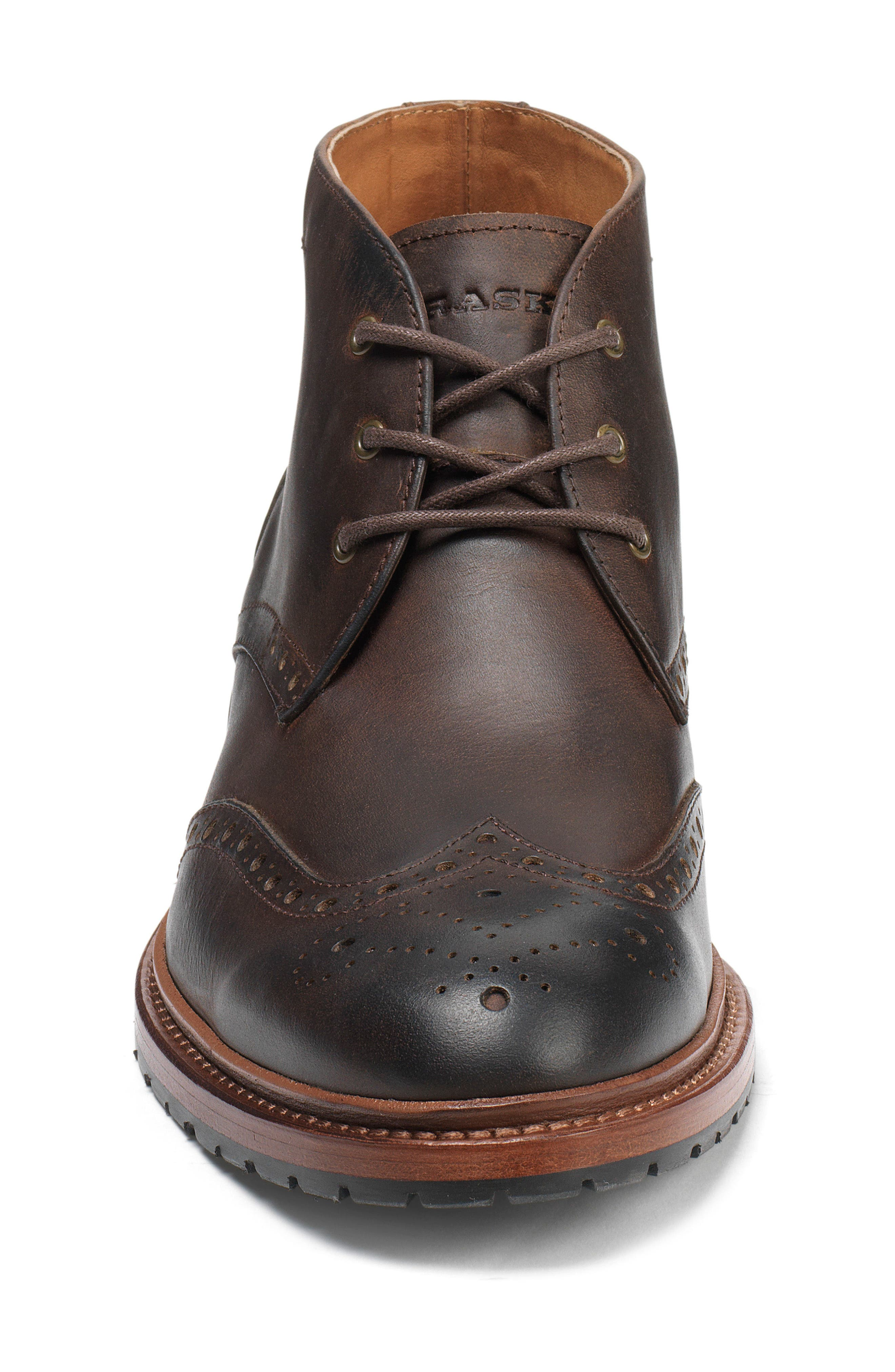'Lawson' Wingtip Boot,                             Alternate thumbnail 3, color,                             BROWN OILED AMERICAN STEER