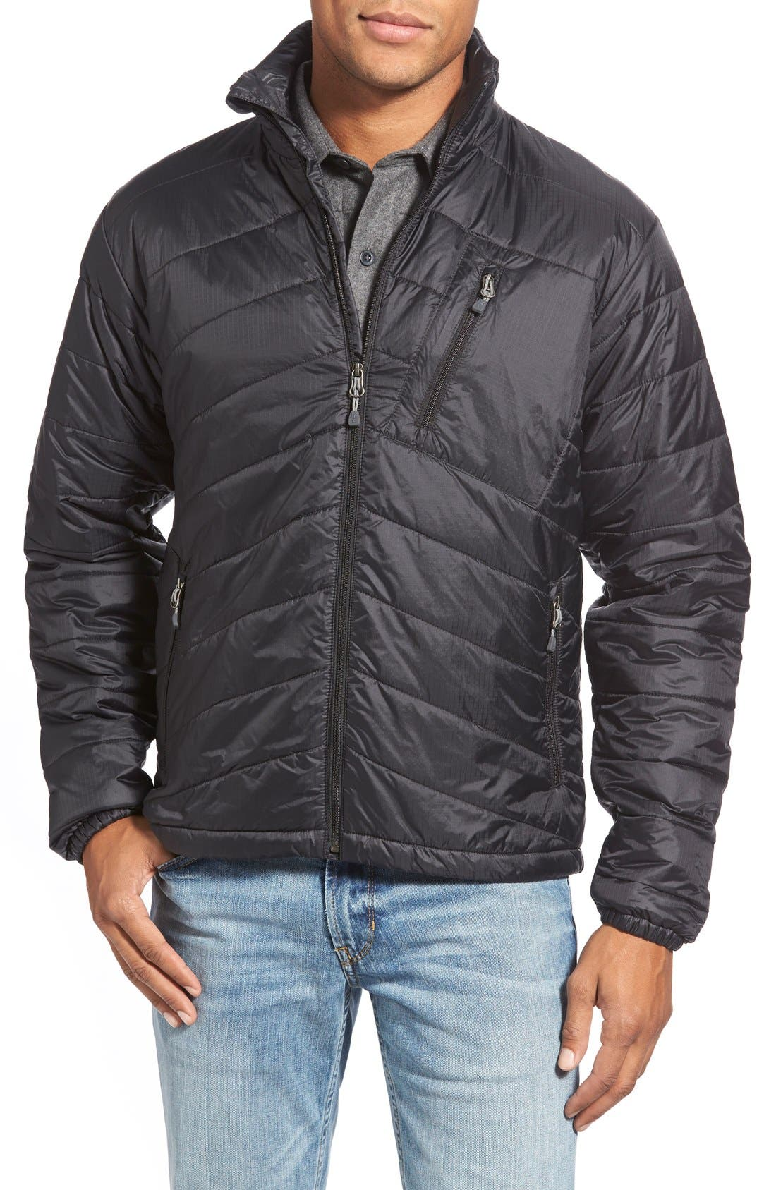 'Wool Aire' Water Resistant Jacket, Main, color, 001