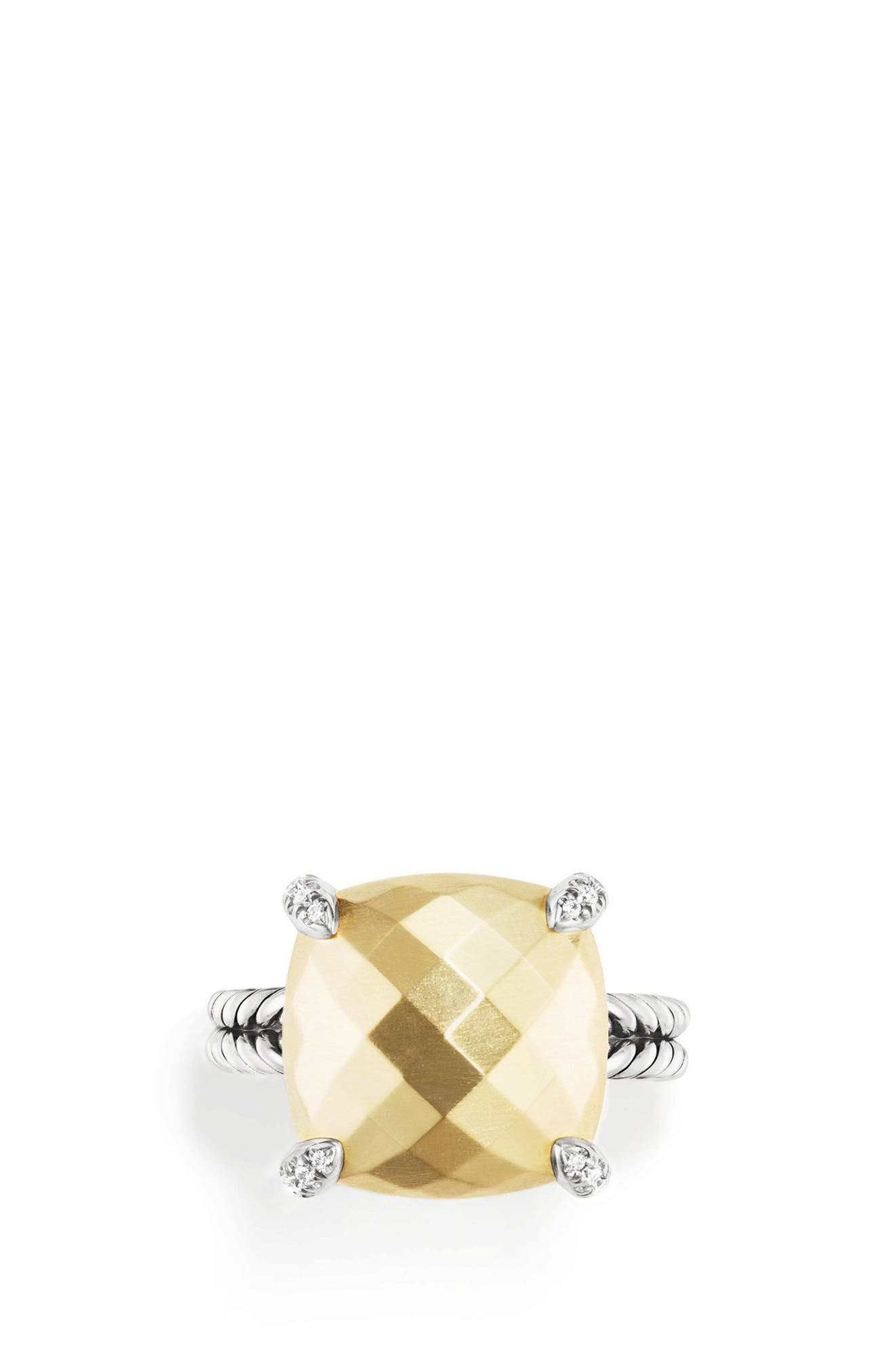 Chatelaine Ring with 18K Gold and Diamonds,                             Alternate thumbnail 3, color,                             GOLD DOME