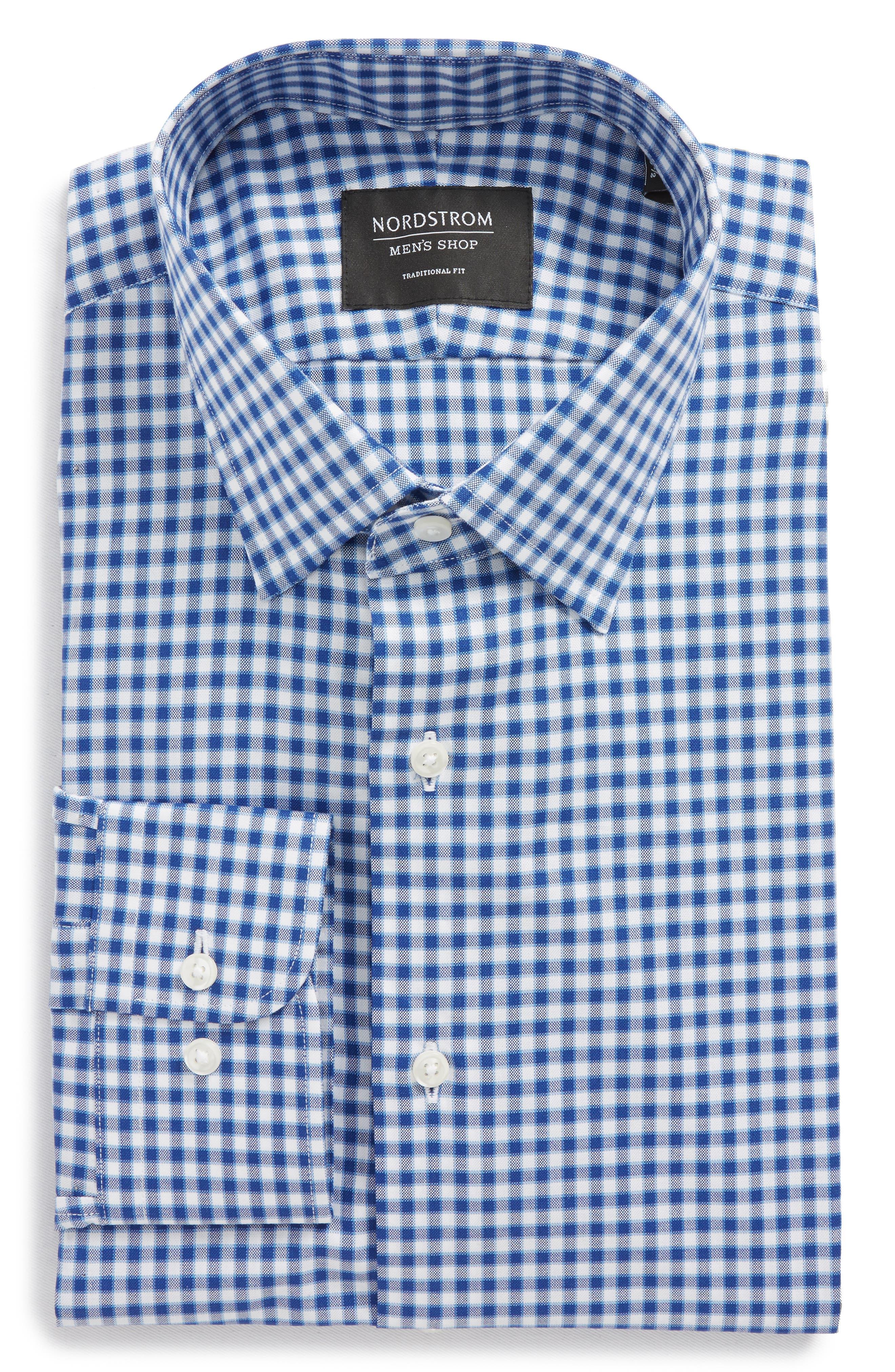Traditional Fit Check Dress Shirt,                             Main thumbnail 1, color,