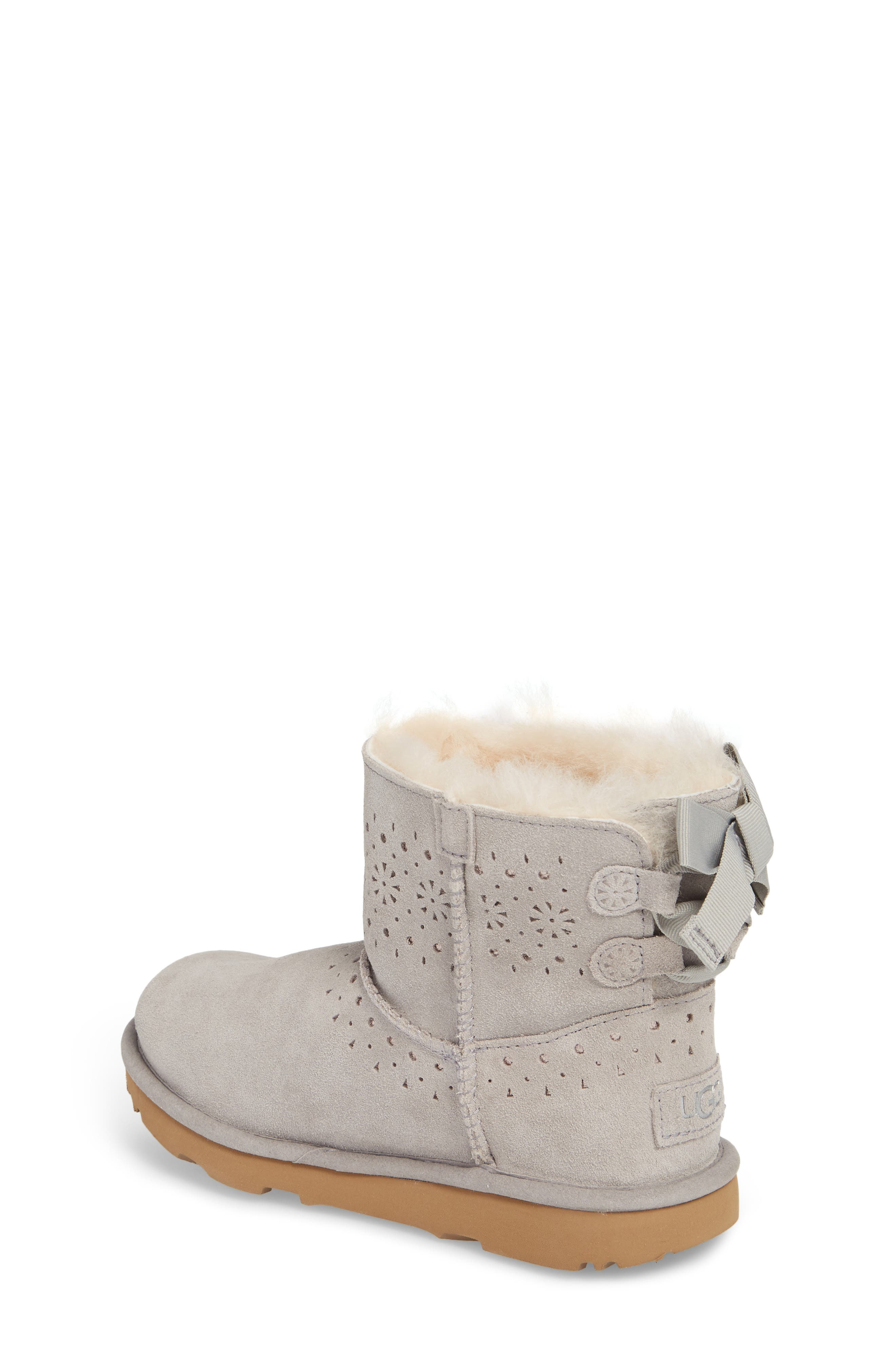 UGG<SUP>®</SUP>,                             Dae Perforated Tie Back Boot,                             Alternate thumbnail 2, color,                             024