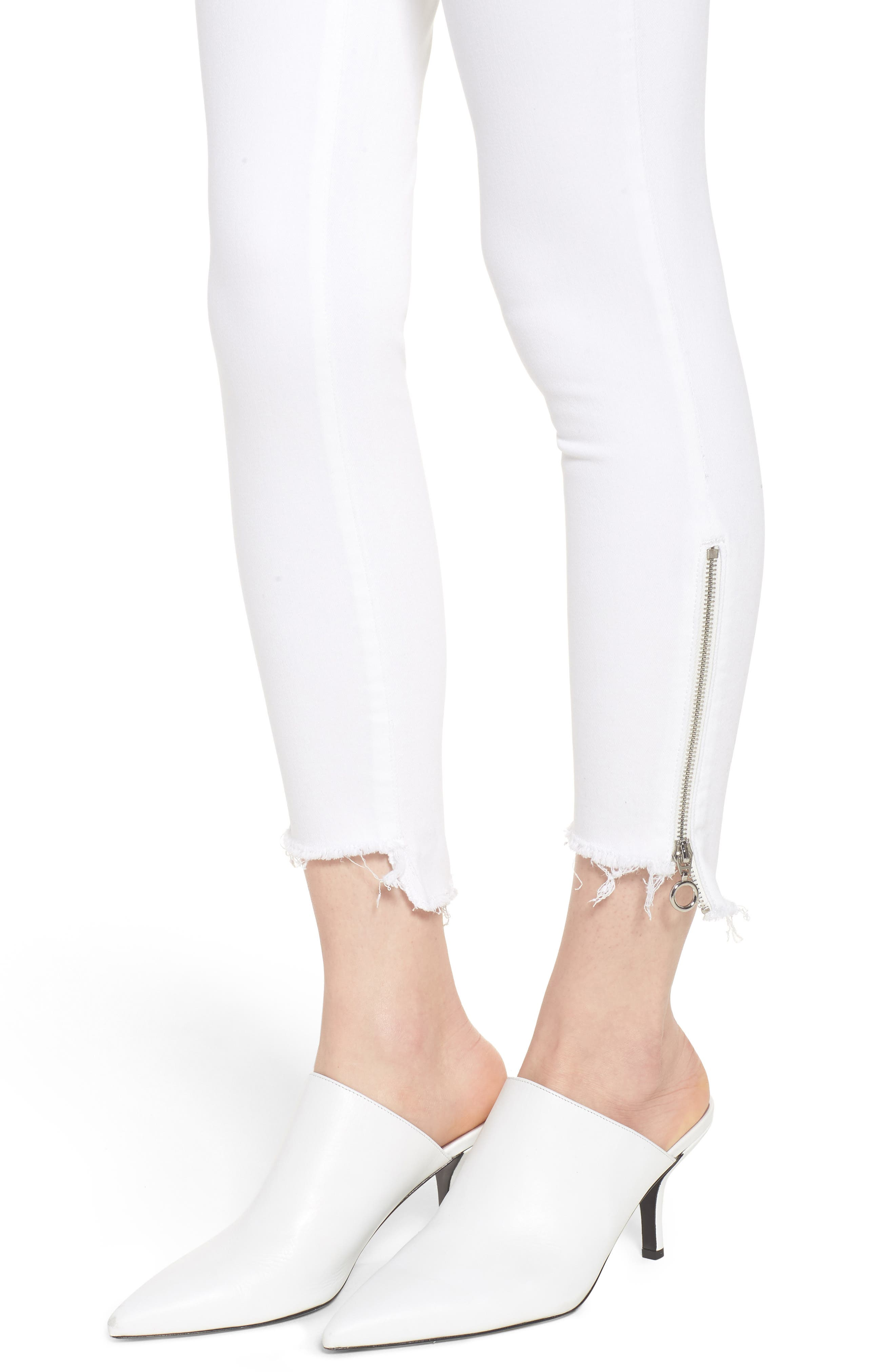 Florence Instasculpt Crop Skinny Jeans,                             Alternate thumbnail 4, color,                             100