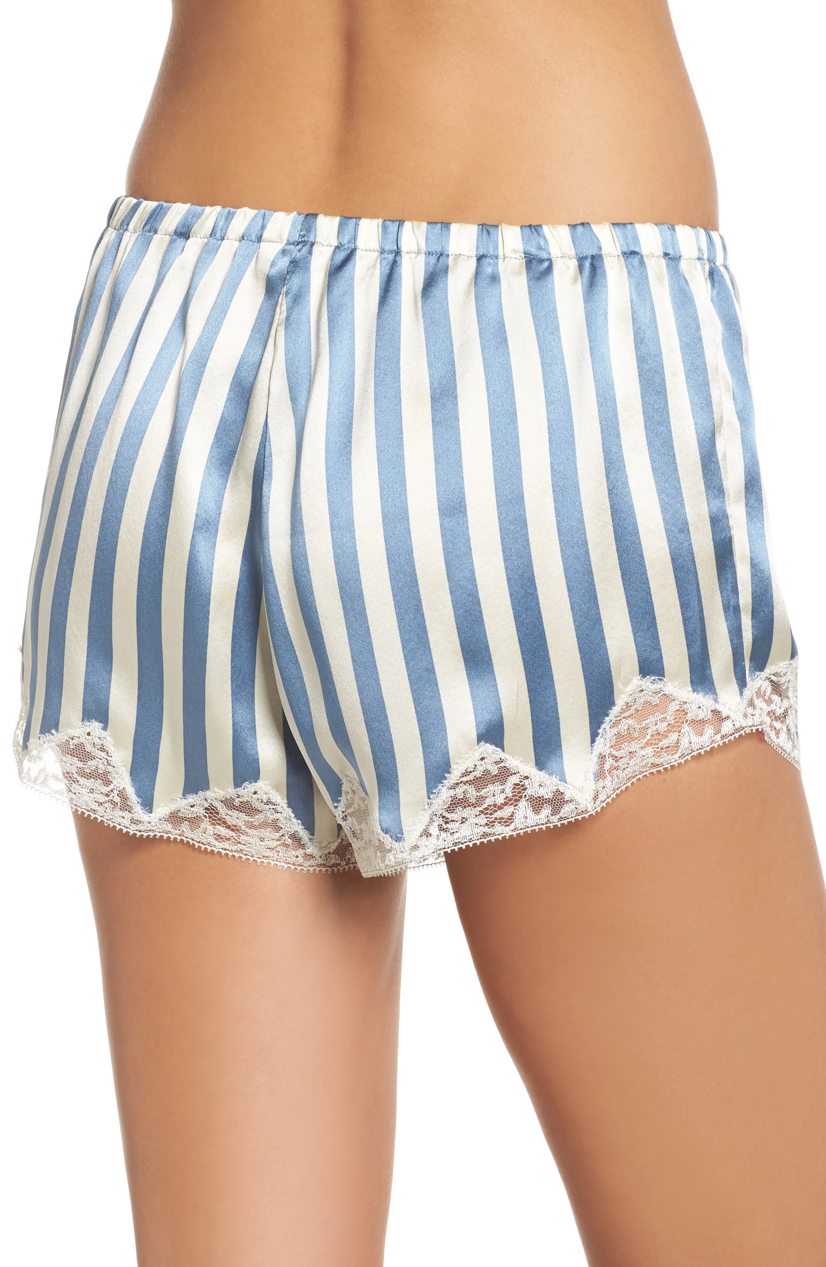 Josephine Silk Stripe Shorts,                             Alternate thumbnail 2, color,
