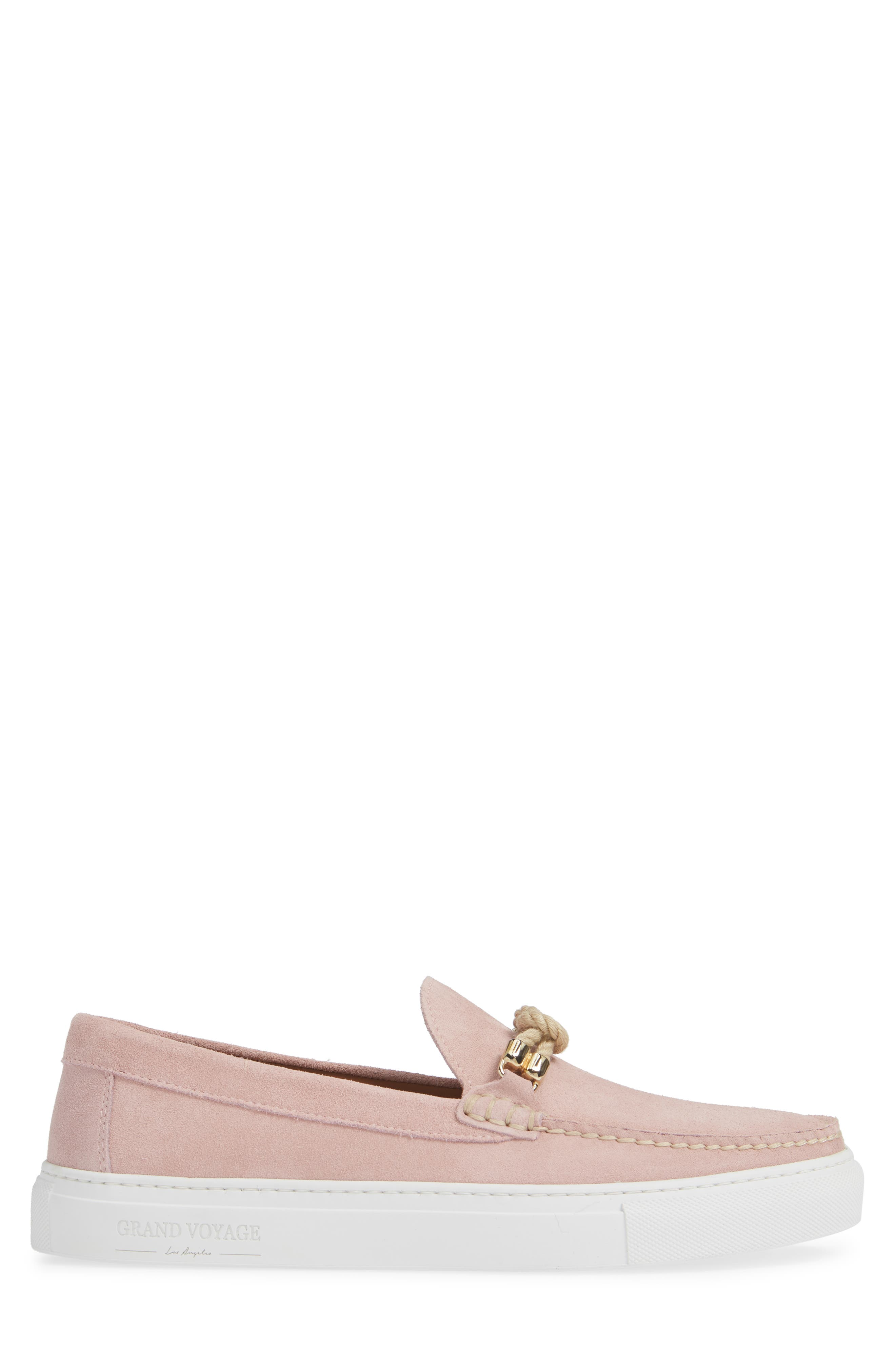 Britton Square Knot Loafer,                             Alternate thumbnail 3, color,                             ROSE SUEDE
