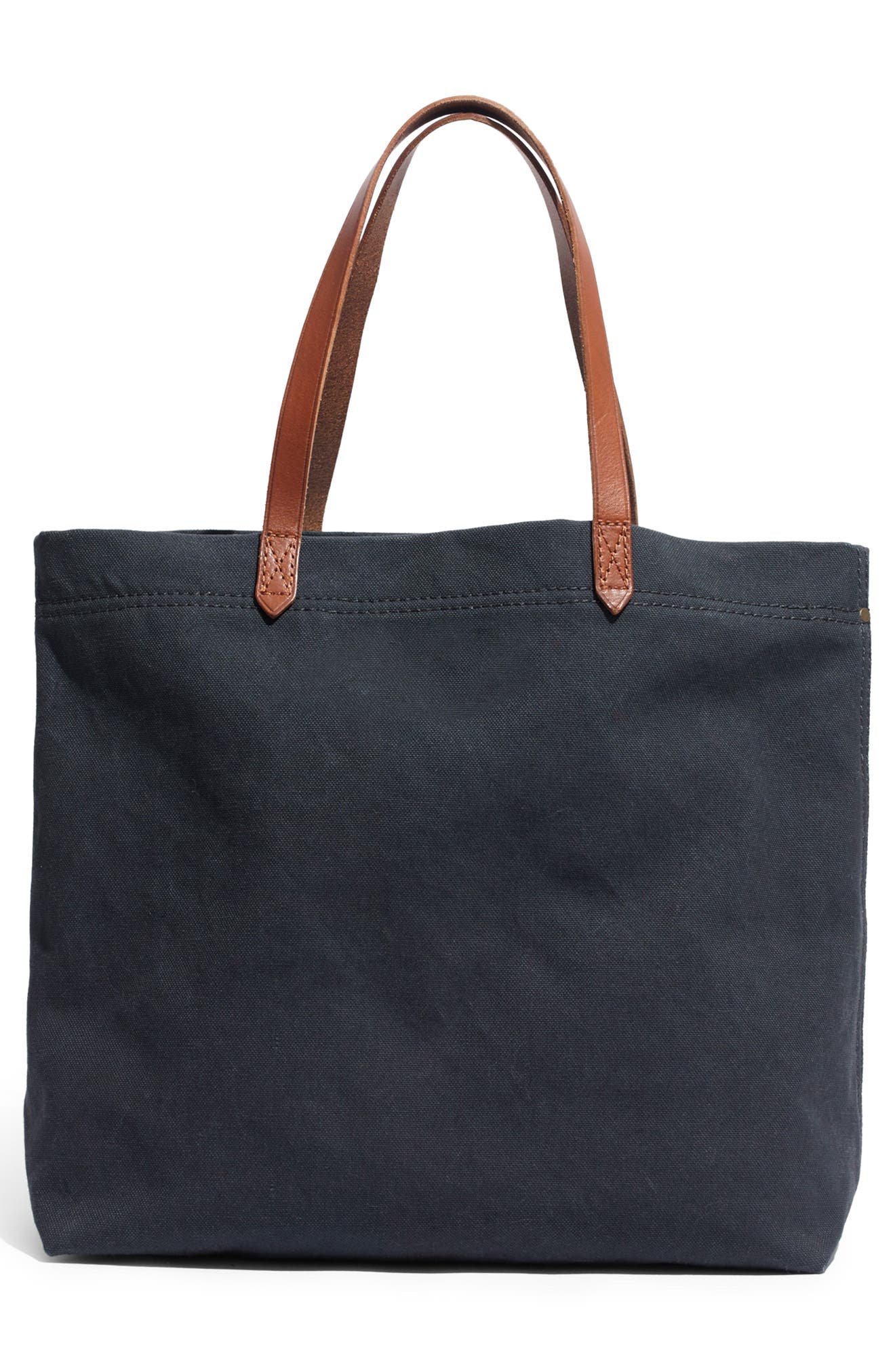 Canvas Transport Tote,                             Alternate thumbnail 4, color,                             BLACK SEA
