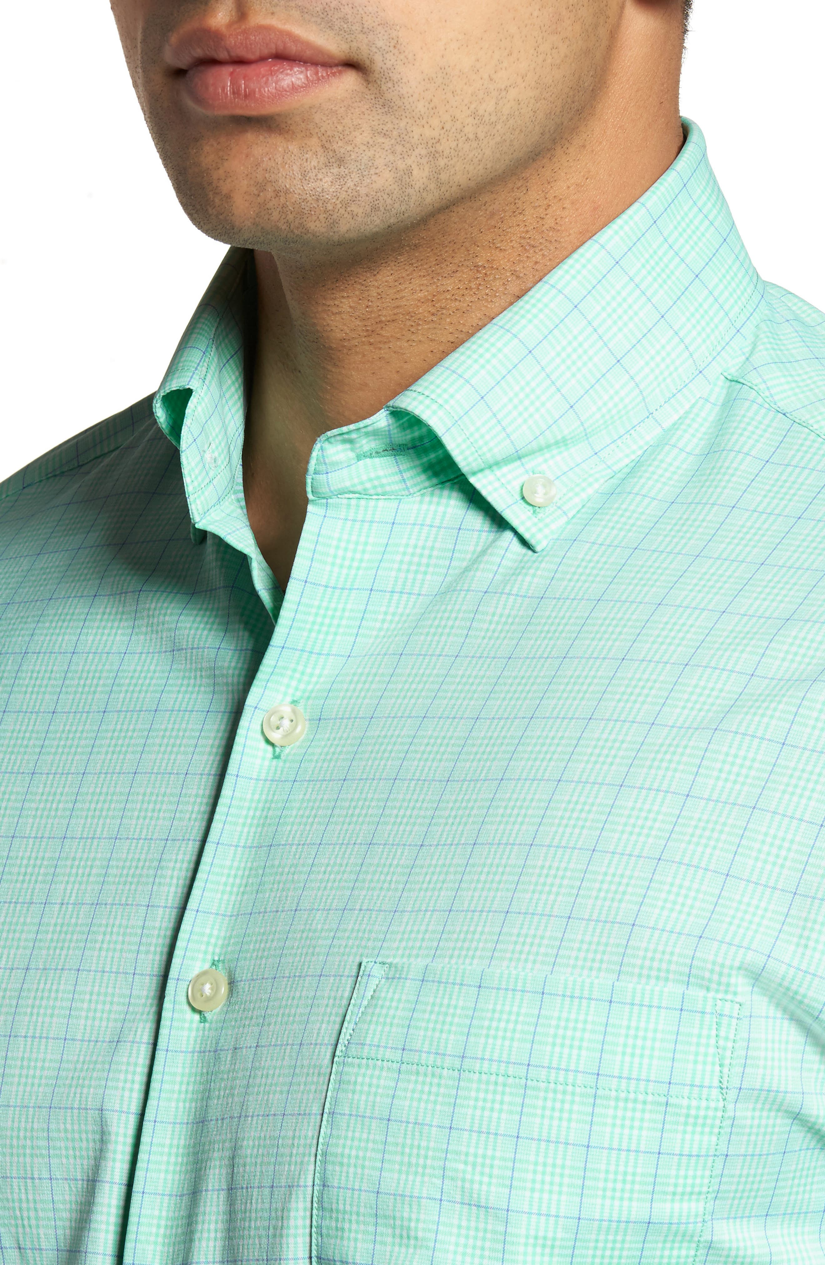 McConnell Plaid Performance Sport Shirt,                             Alternate thumbnail 4, color,                             CAYS