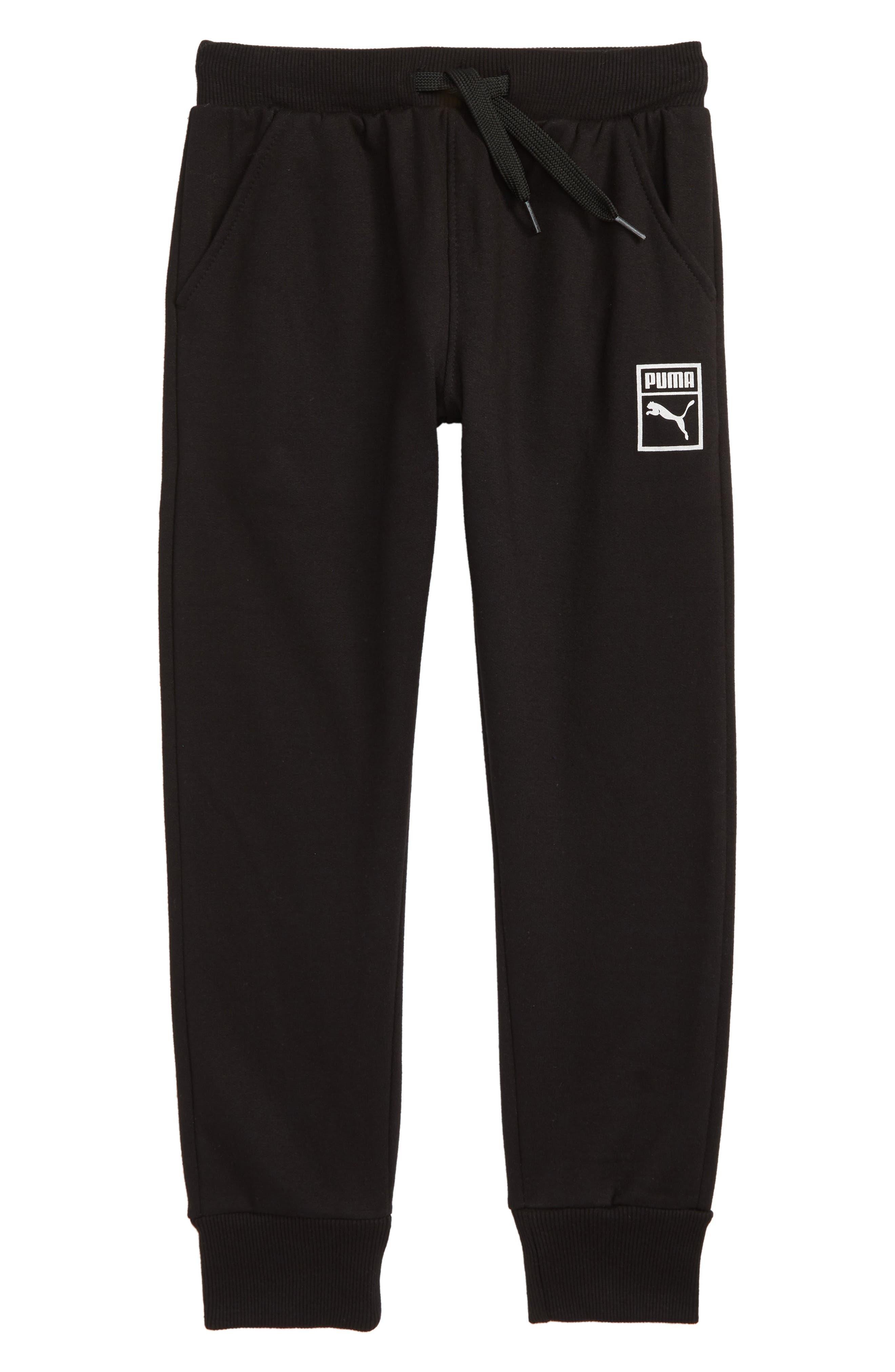 PUMA Fleece Jogger Pants, Main, color, 001