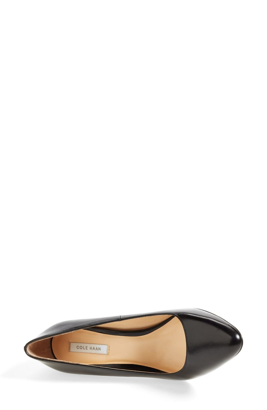 COLE HAAN,                             'Bethany' Leather Pump,                             Alternate thumbnail 3, color,                             001