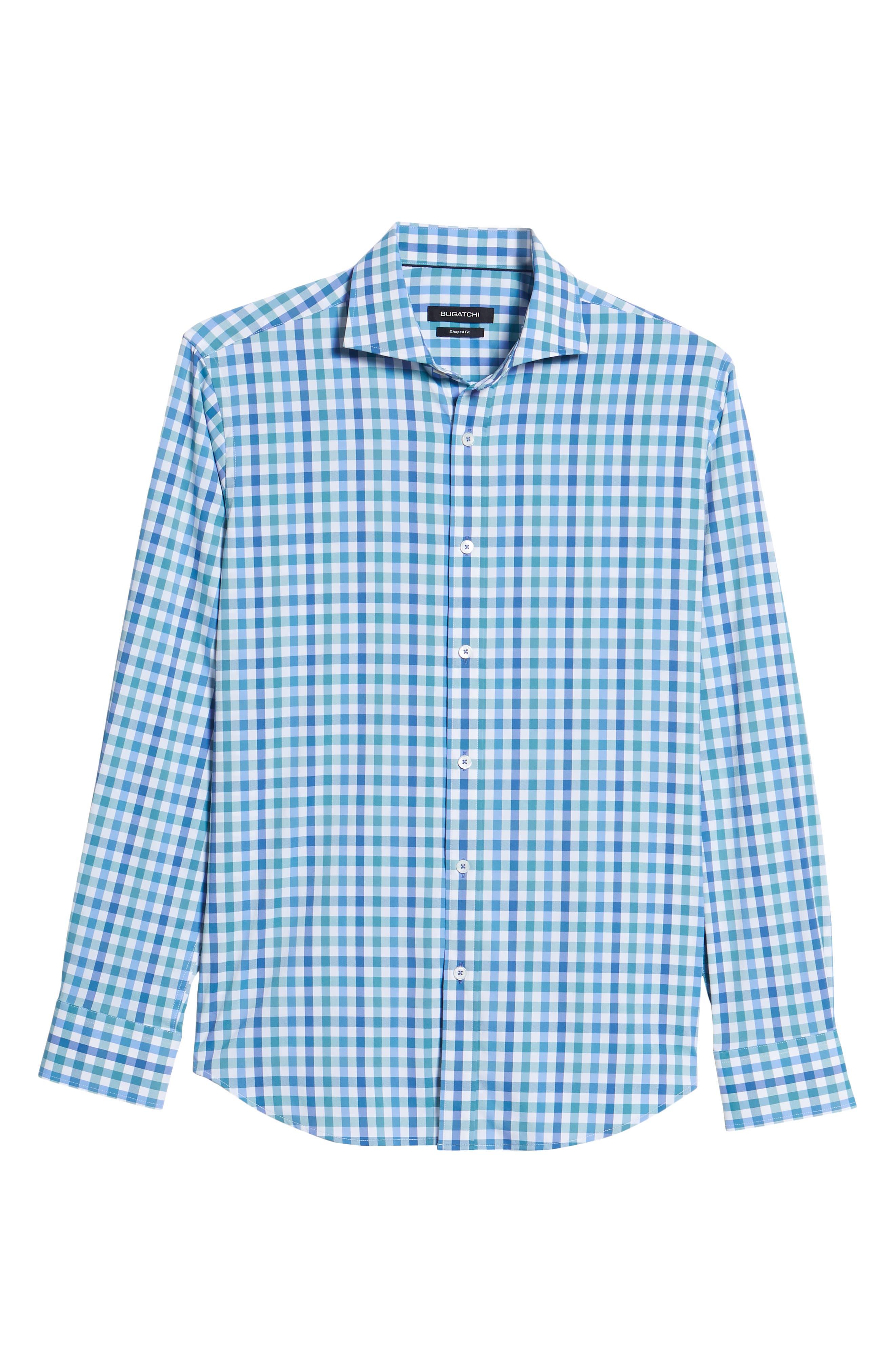 Shaped Fit Check Performance Sport Shirt,                             Alternate thumbnail 6, color,                             PARADISE