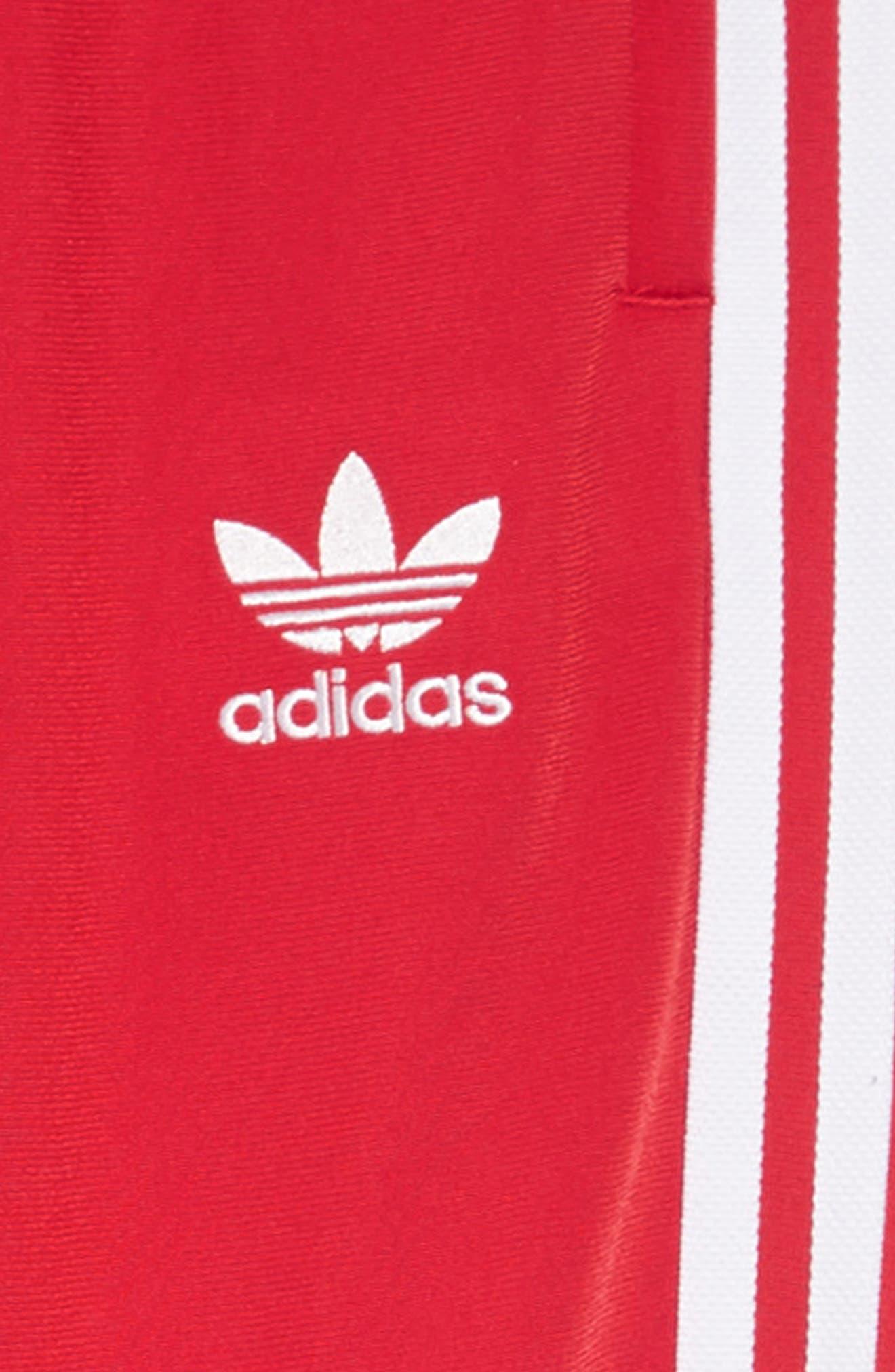 Superstar Track Pants,                             Alternate thumbnail 2, color,                             COLLEGIATE RED/ WHITE