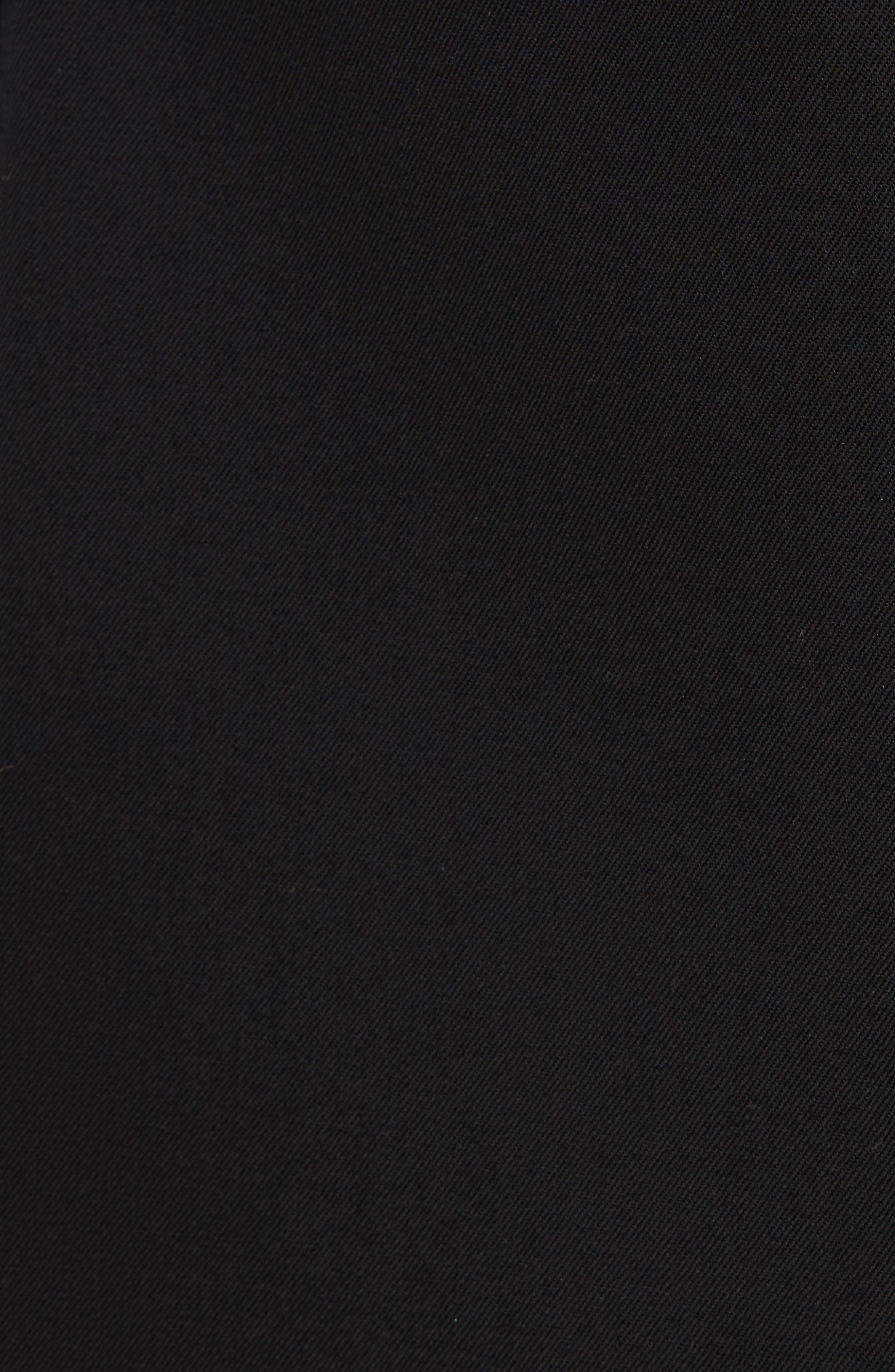V-Back Sleeveless Wool Dress,                             Alternate thumbnail 5, color,                             001