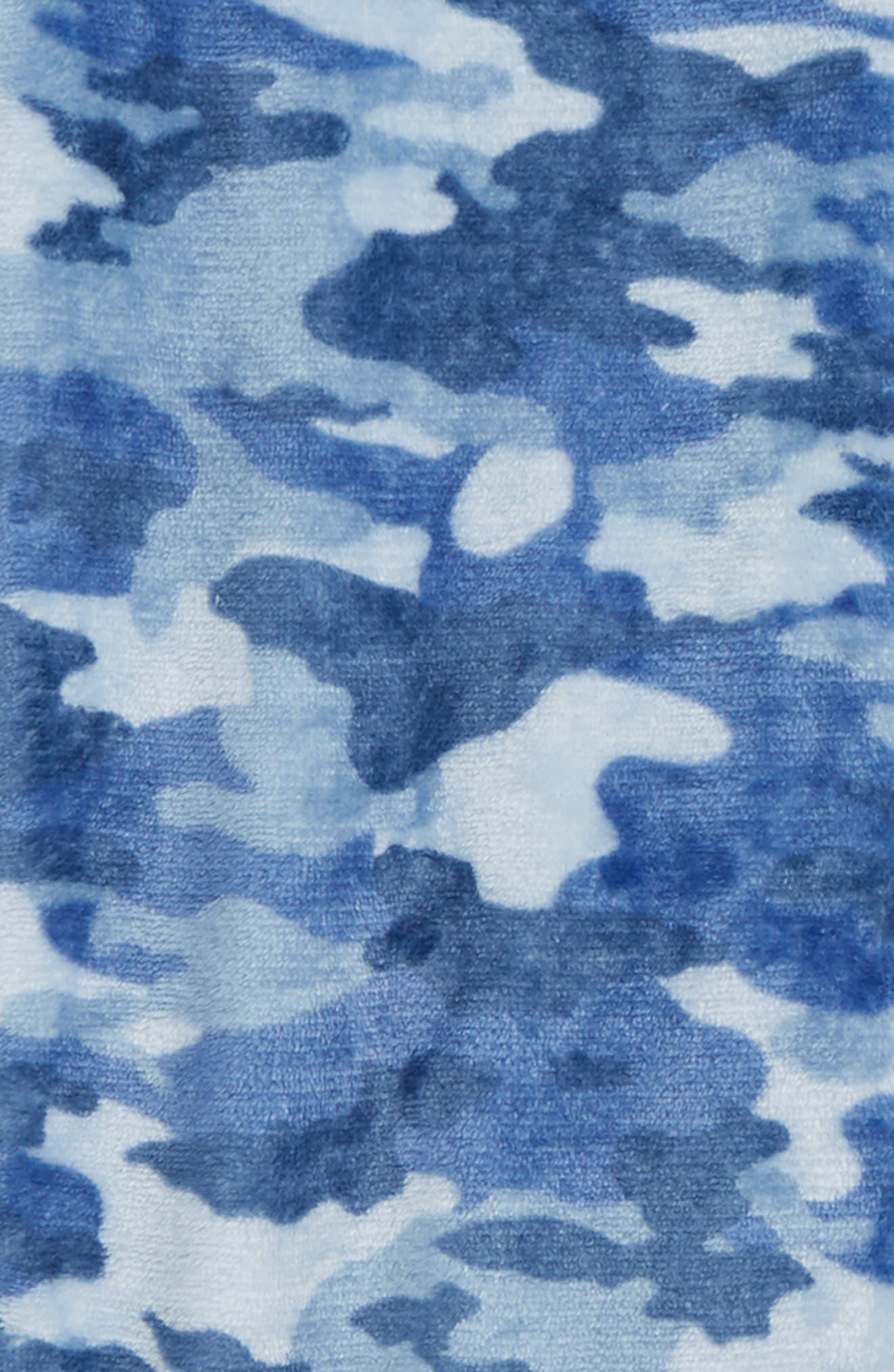 Camo Fleece Pajama Pants,                             Alternate thumbnail 2, color,                             NAVY